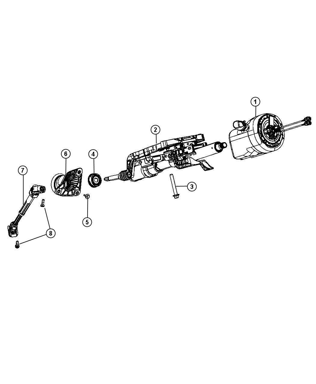 Dodge Durango Column Steering Export Power Tilt