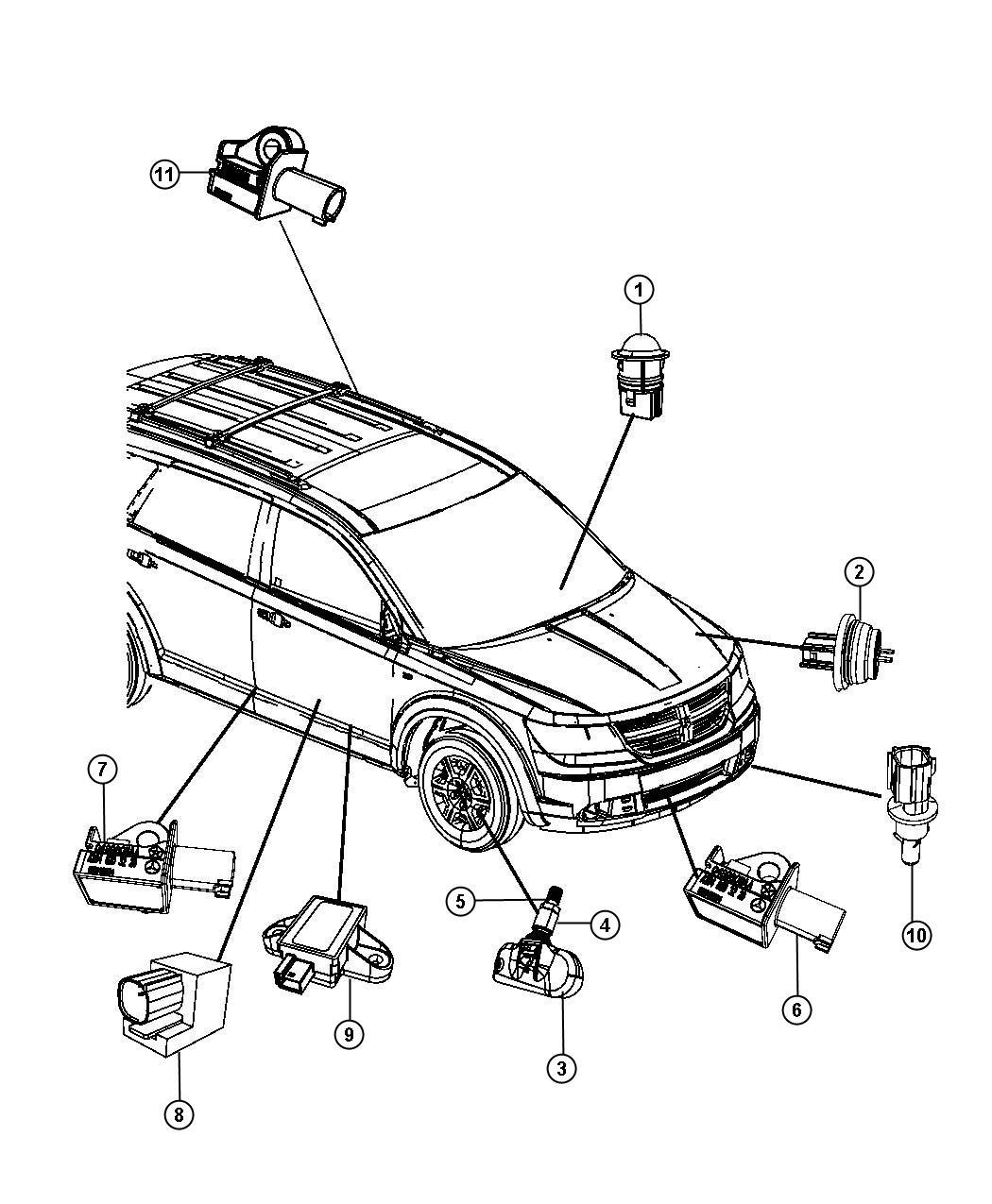 Dodge Journey Sensor Acceleration Front Sensors