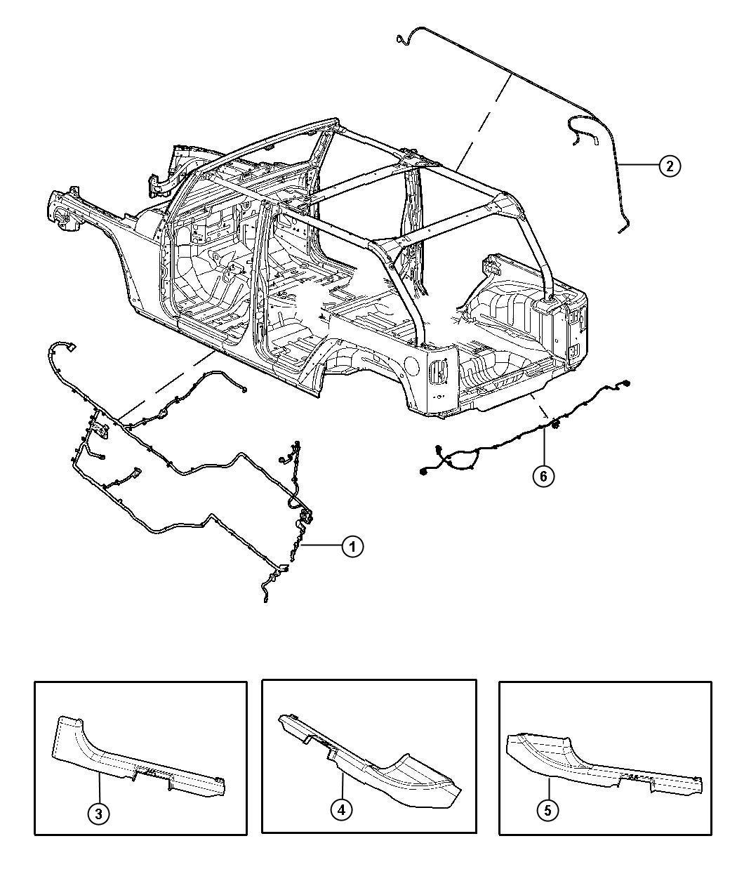 Jeep Wrangler Wiring Rear Bumper Export