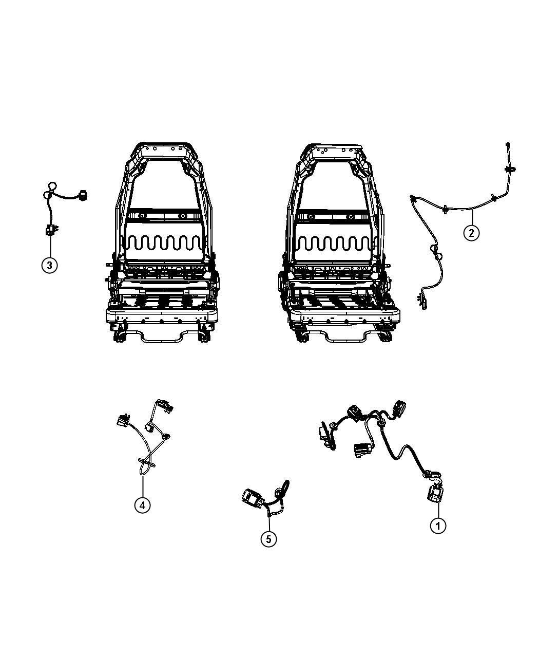 Jeep Wrangler Wiring Seat Us Canada Trim Premium