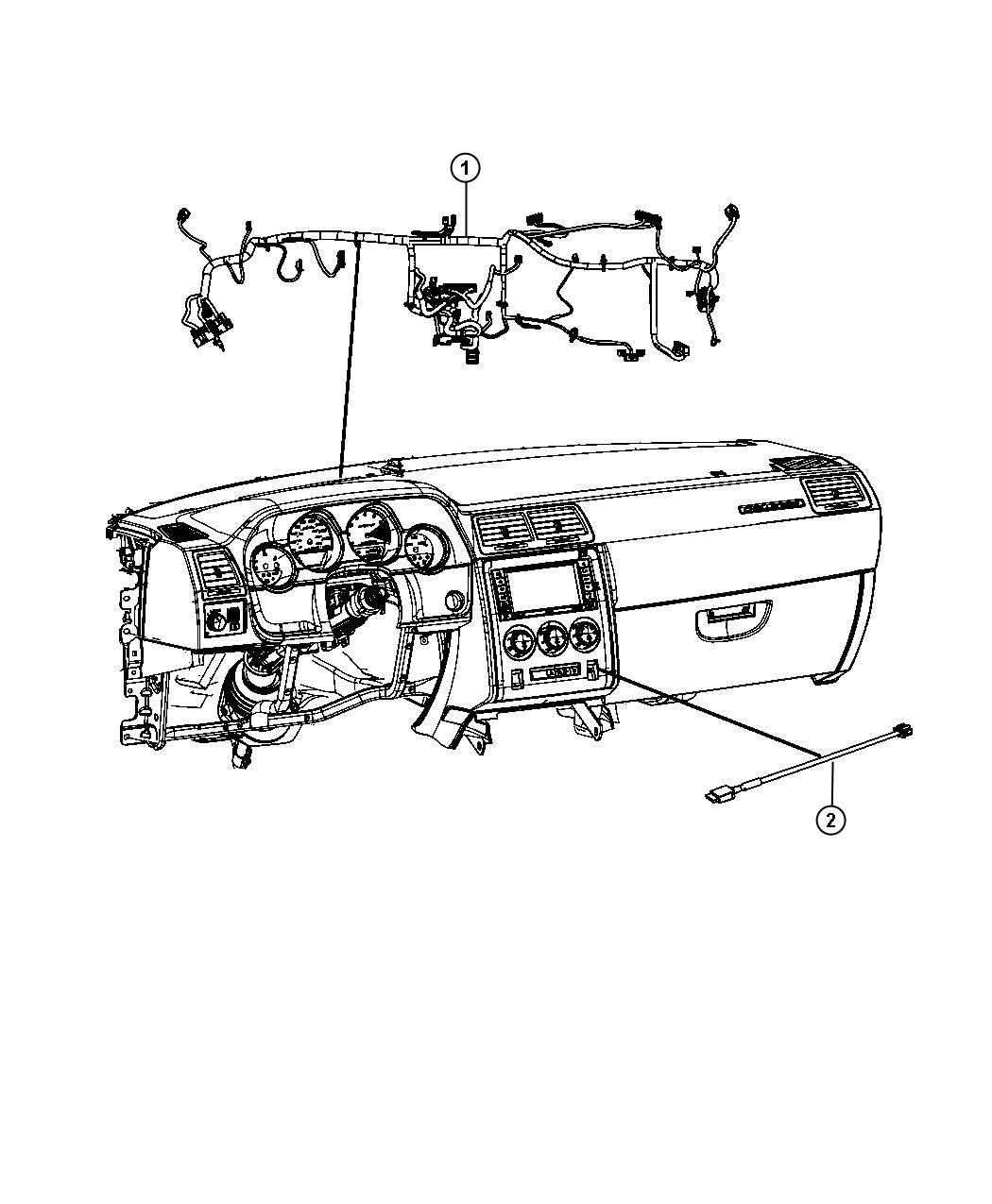 Dodge Challenger Wiring Instrument Panel Command