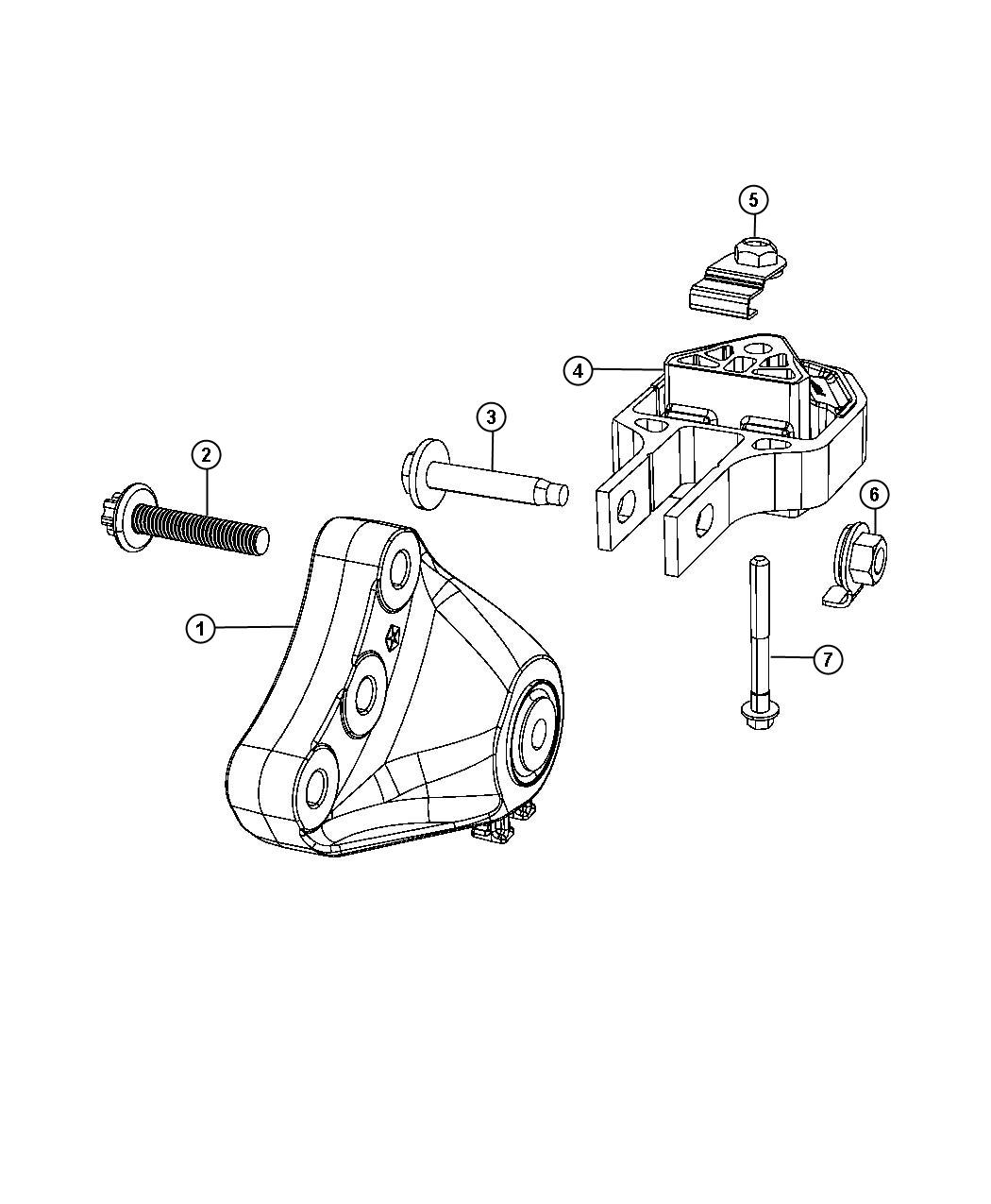 Dodge Dart Bracket Engine Mount 6 Speed Automatic