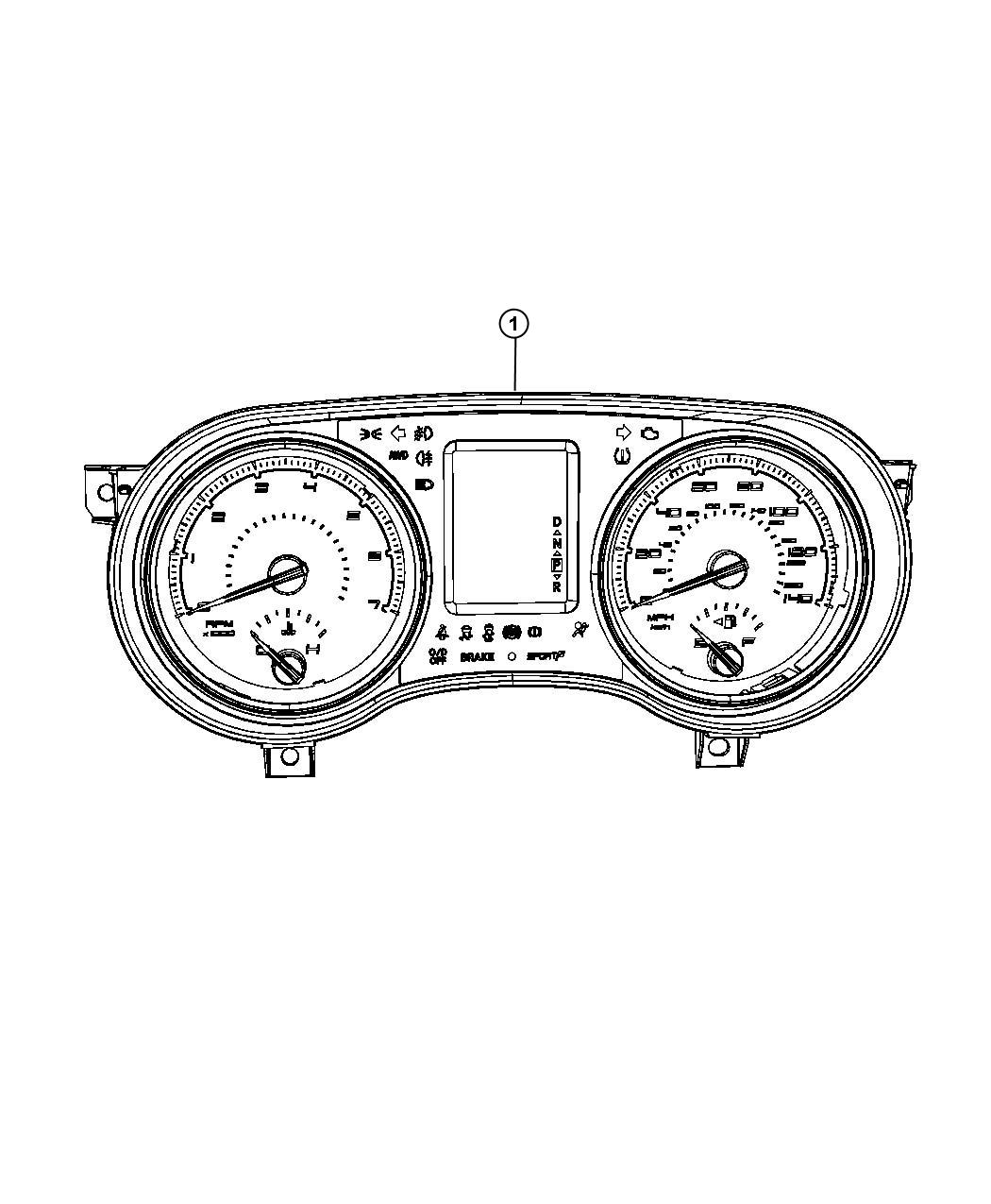 Dodge Charger Cluster Instrument Panel Group