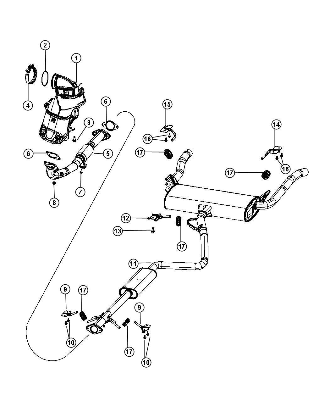 Dodge Dart Gasket Catalytic Converter Exhaust