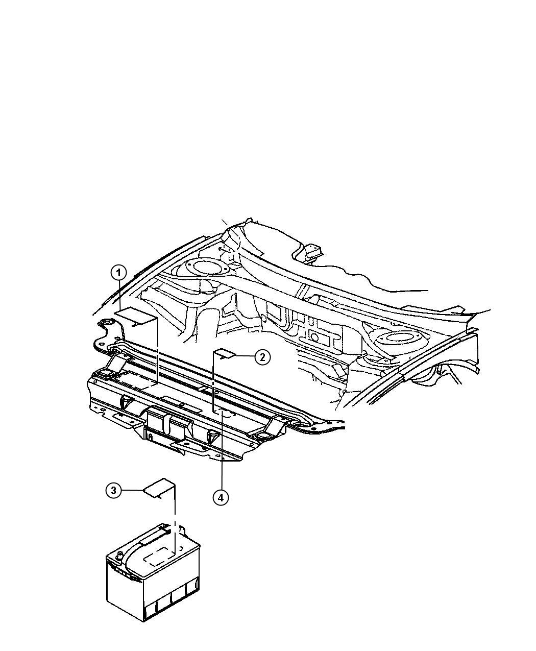 Dodge Charger Label Air Conditioning System Hood