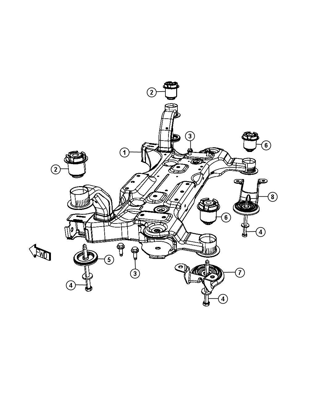 Chrysler Town Amp Country Plate Isolator Suspension