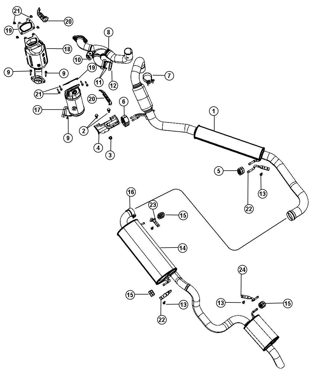 Dodge Bracket Exhaust Hanger Front System