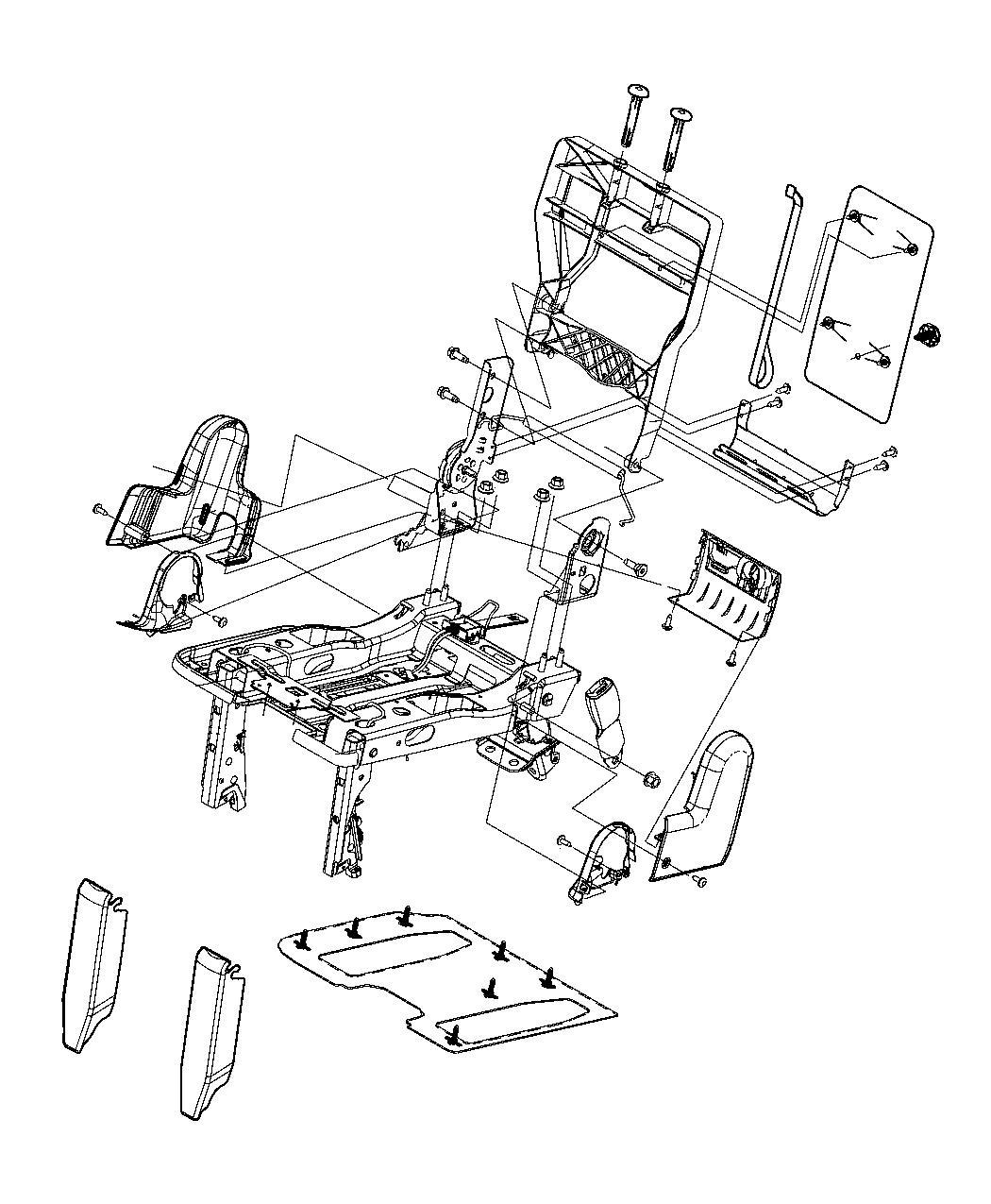 Chrysler Town Amp Country Frame Rear Seat Cushion Trim