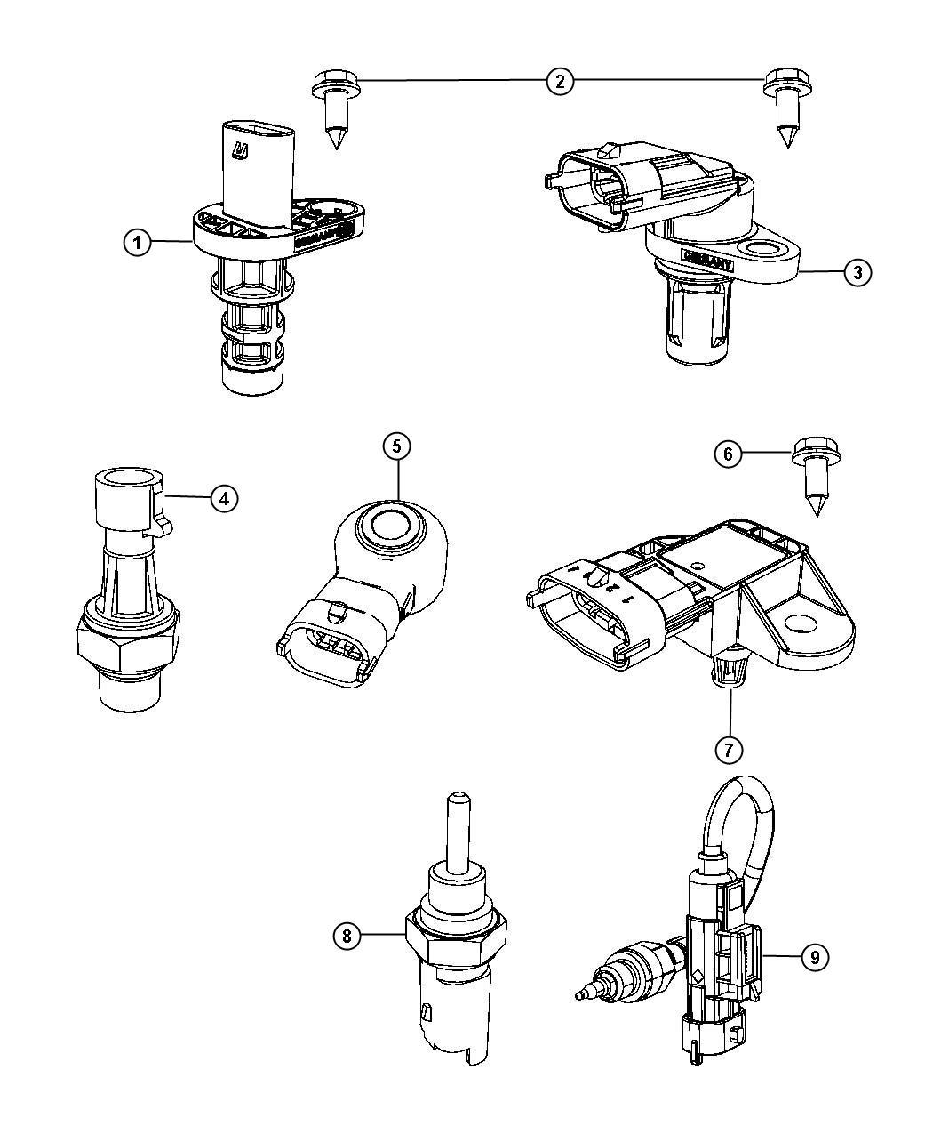 Fiat 500x Sensor Knock Engine Sensors