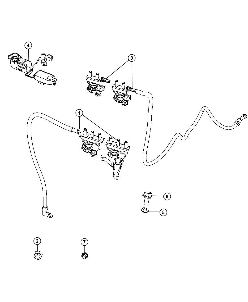 Fiat 500x Wiring Battery Positive Used For Alternator