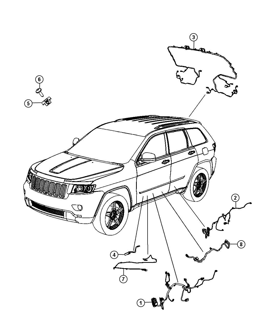 Jeep Grand Cherokee Wiring Liftgate Power Liftgate