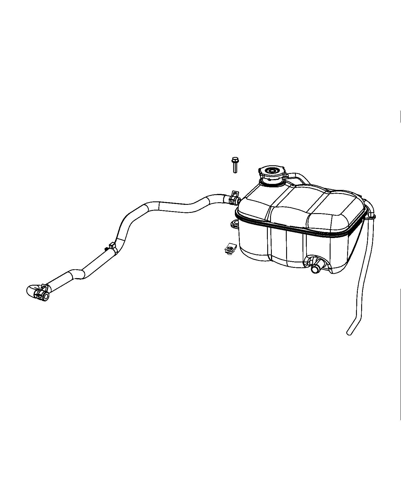 Dodge Viper Bottle Pressurized Coolant Includes Cap