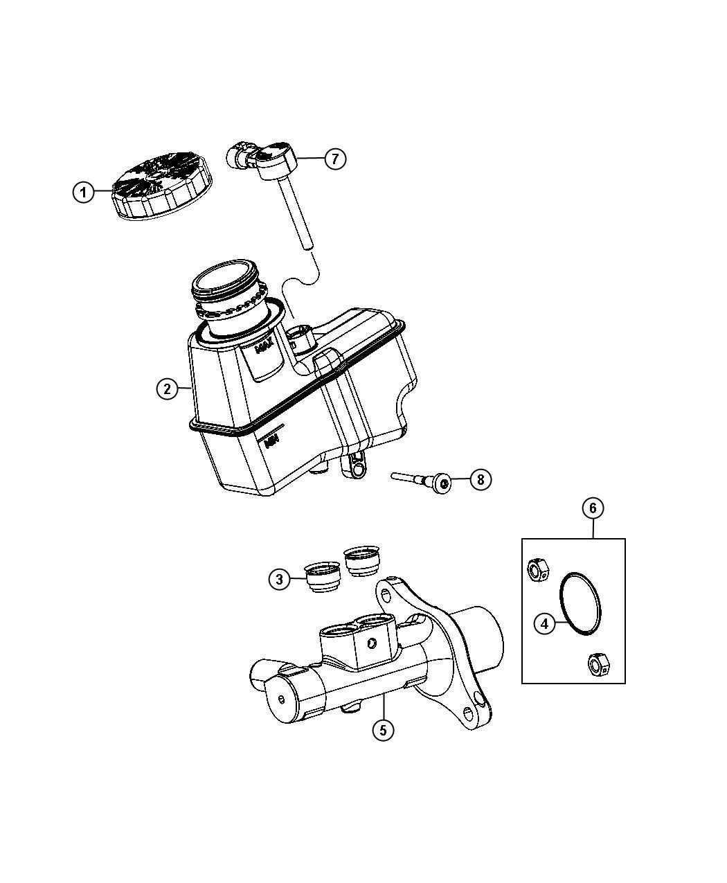 Dodge Dart Master Cylinder Brake Maintenance