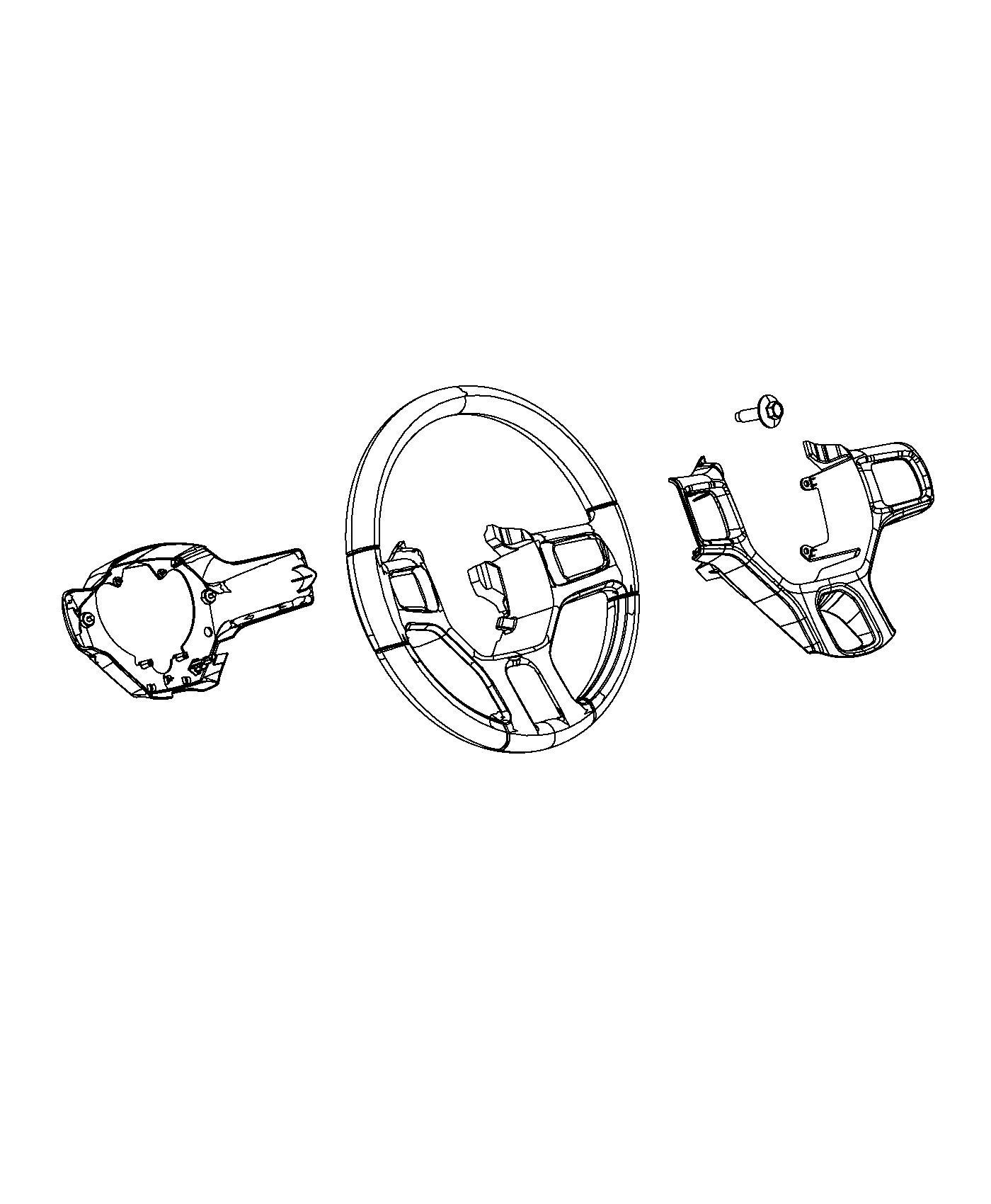 Dodge Ram Bezel Steering Wheel Switch Trim No