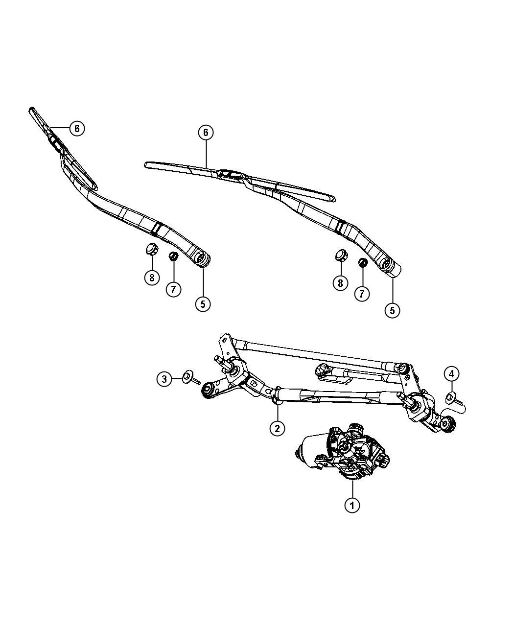 Dodge Dart Motor Windshield Wiper System