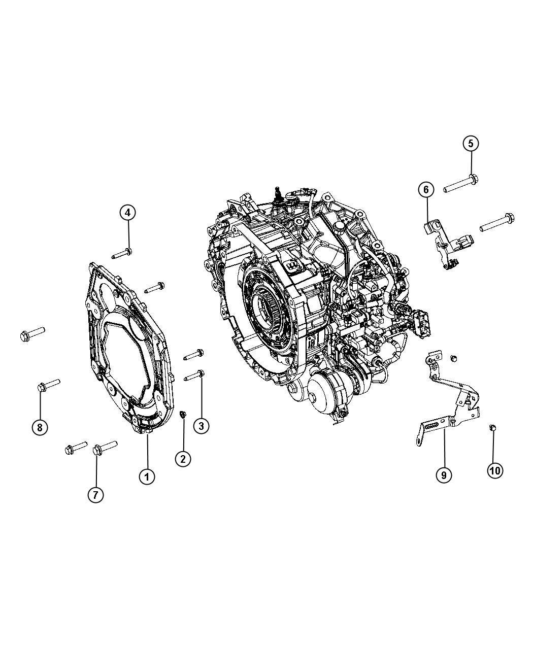 Dodge Dart Bracket Transmission Wiring Support