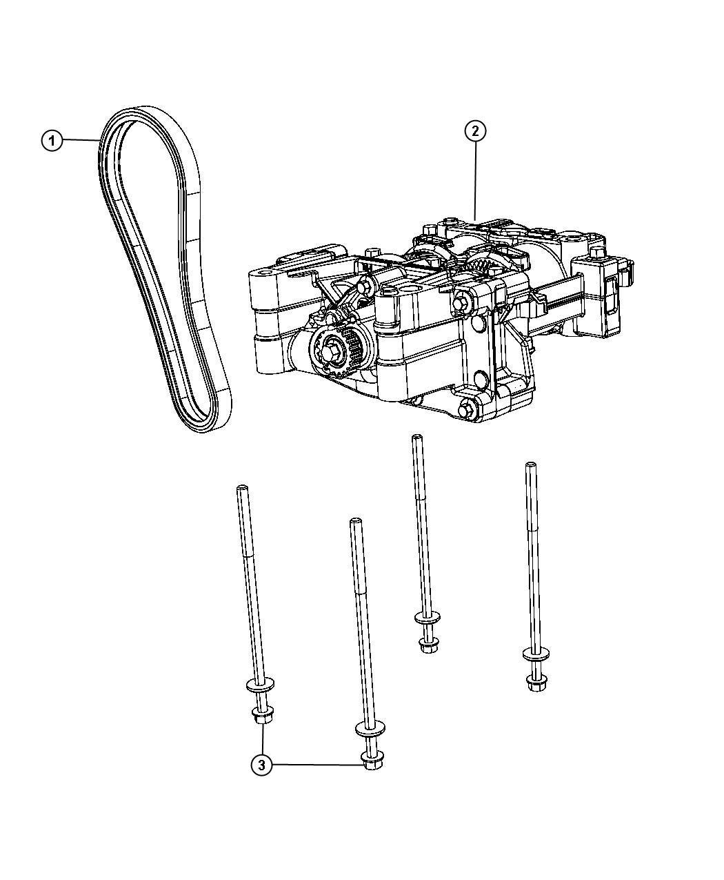 Dodge Dart Shaft Balance Pump Oil Engine