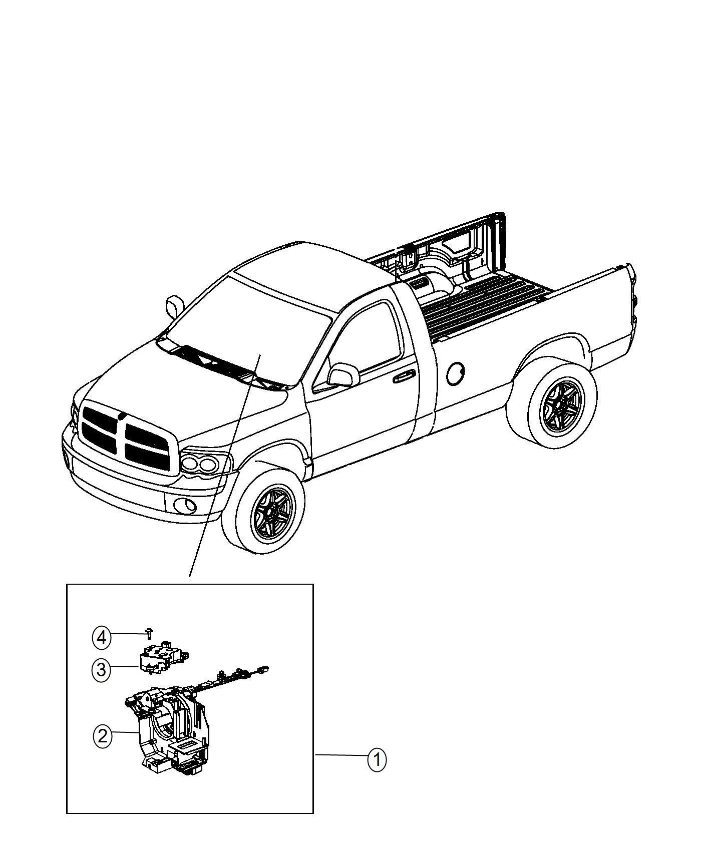 Dodge Ram Clockspring Steering Column Control Module