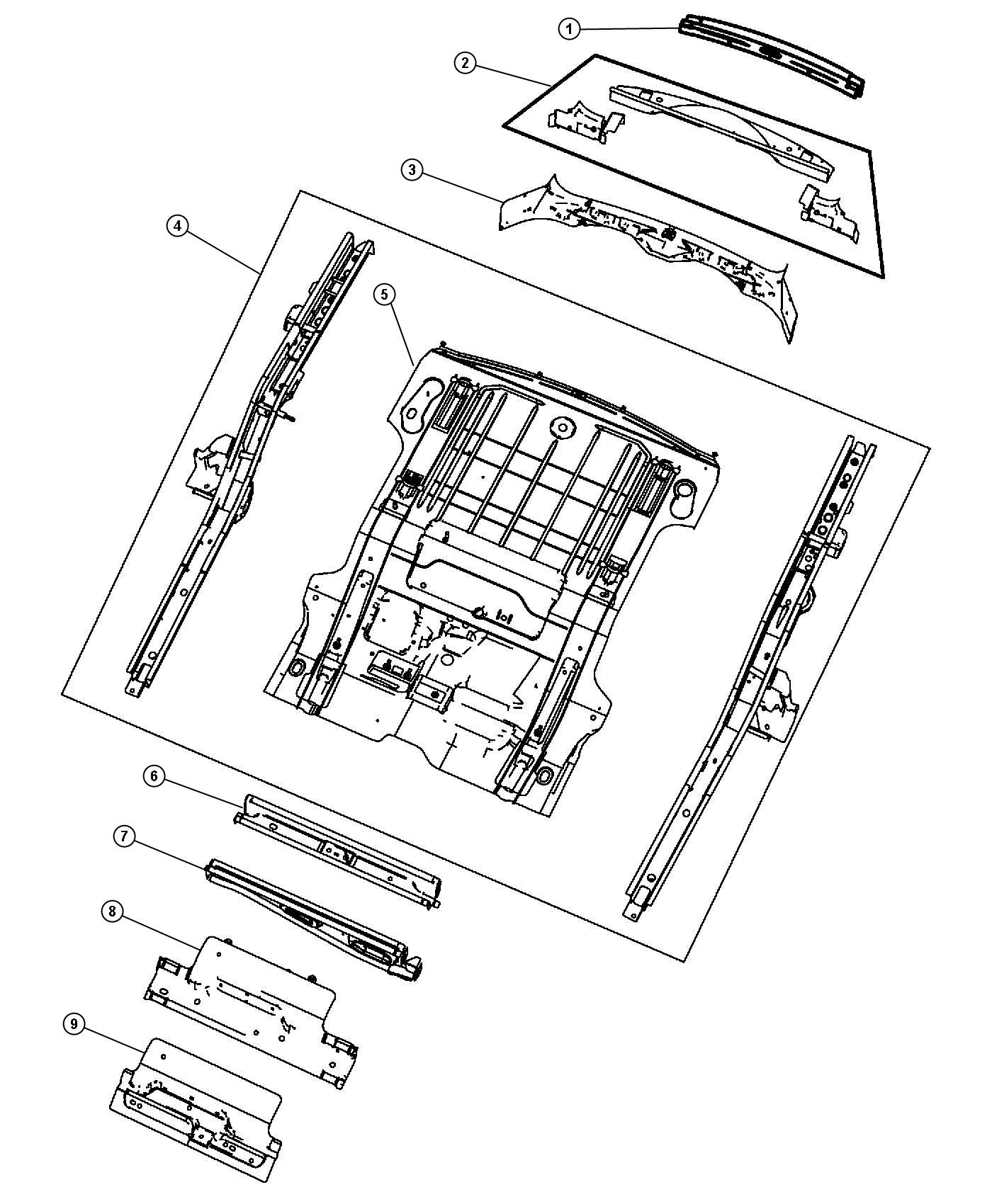 Jeep Liberty Crossmember Floor Pan Rear Suspension