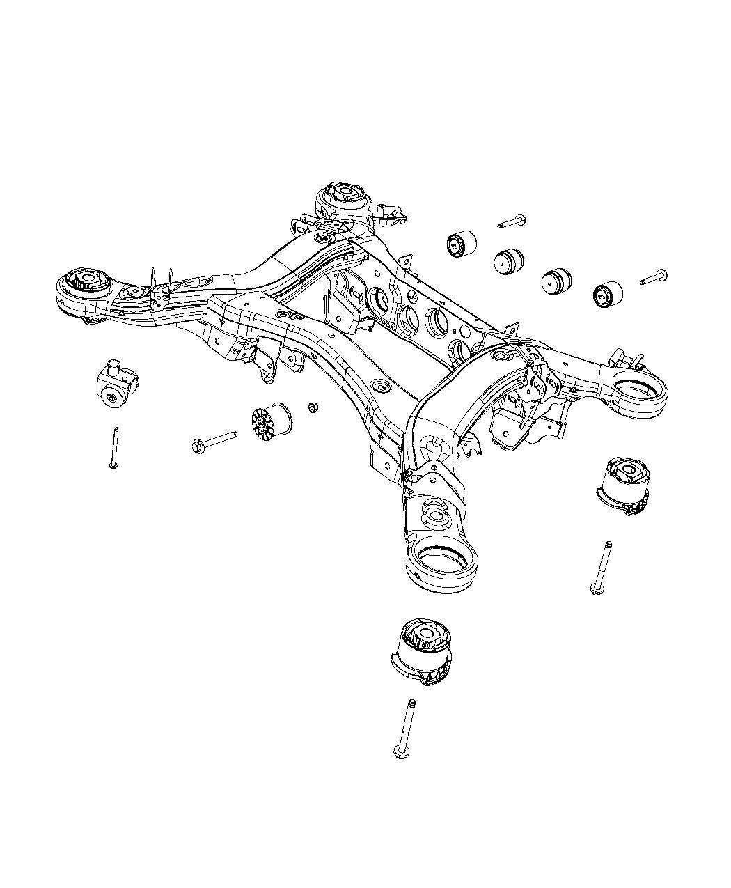 Dodge Magnum Isolator Cradle Rear Rear Suspension