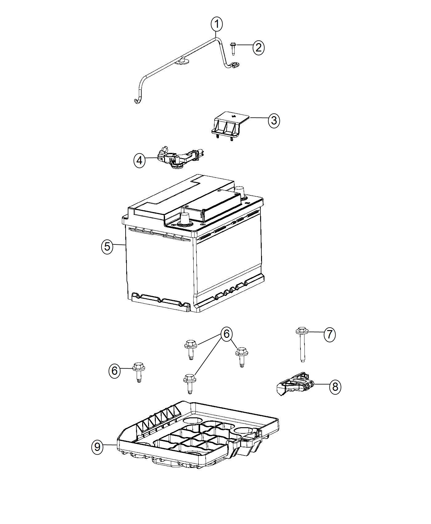 Fiat 500e Tray Battery Support Maintenance