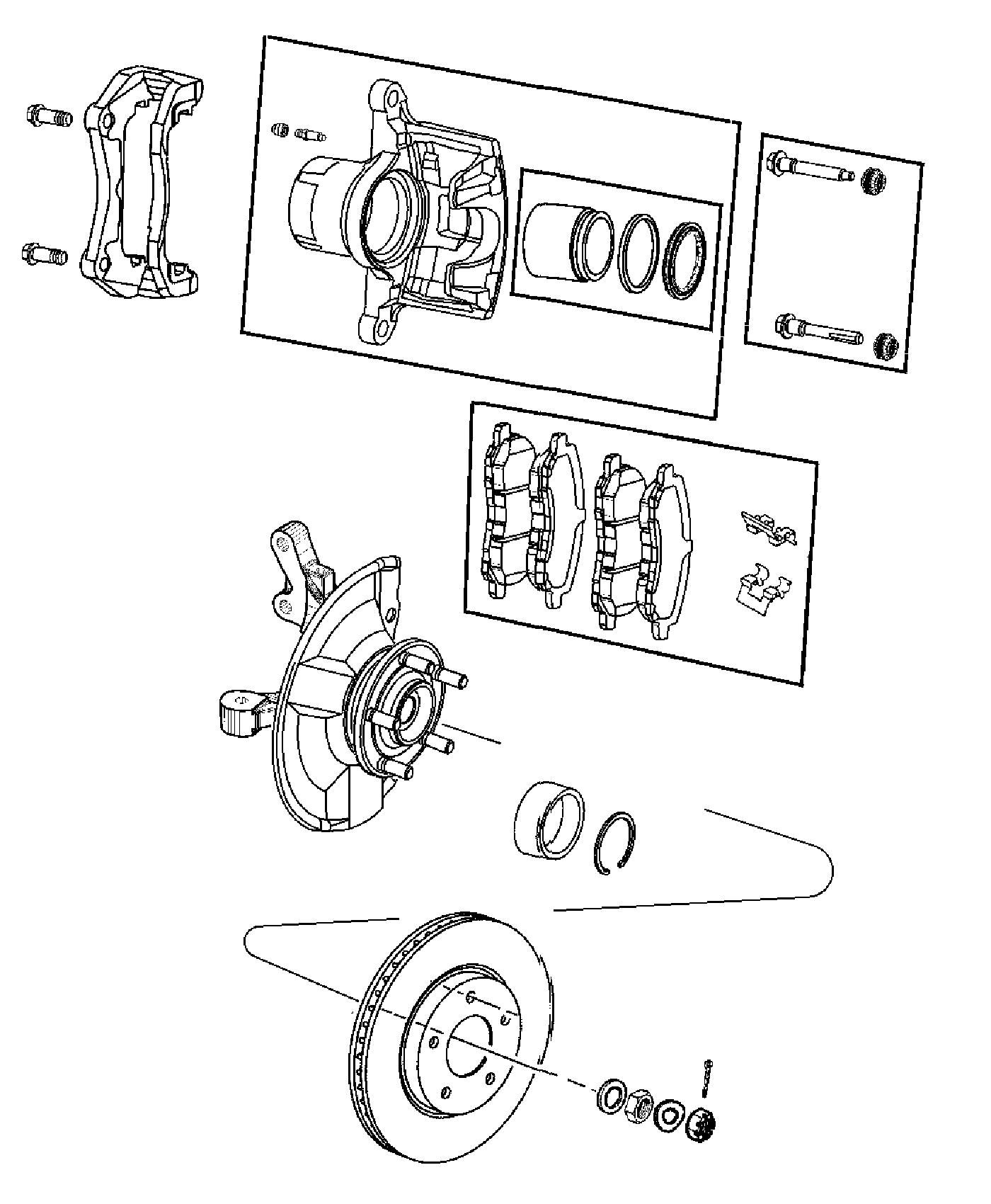 Jeep Compass Pad Kit Front Disc Brake Right Or Left