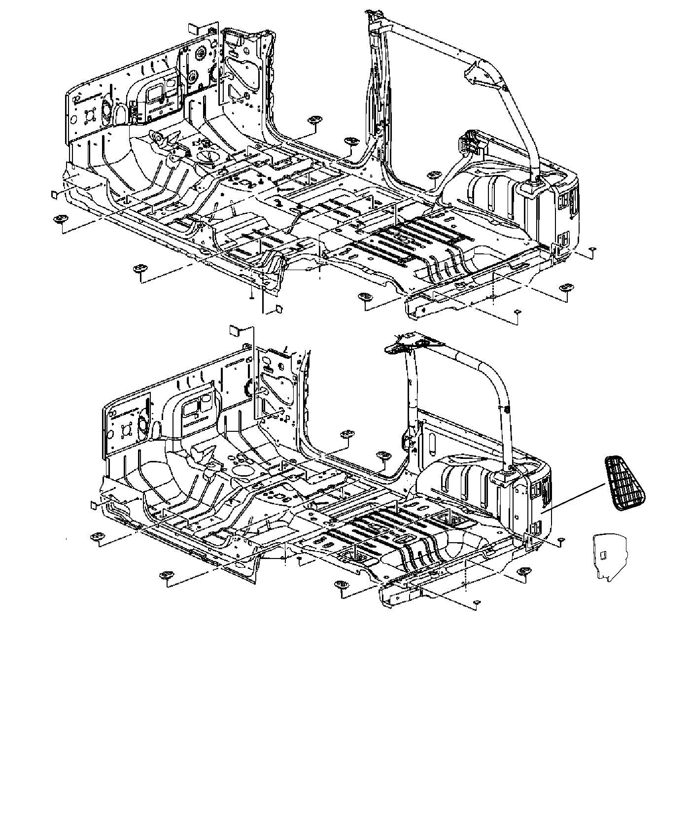 Jeep Wrangler Pad Mastic