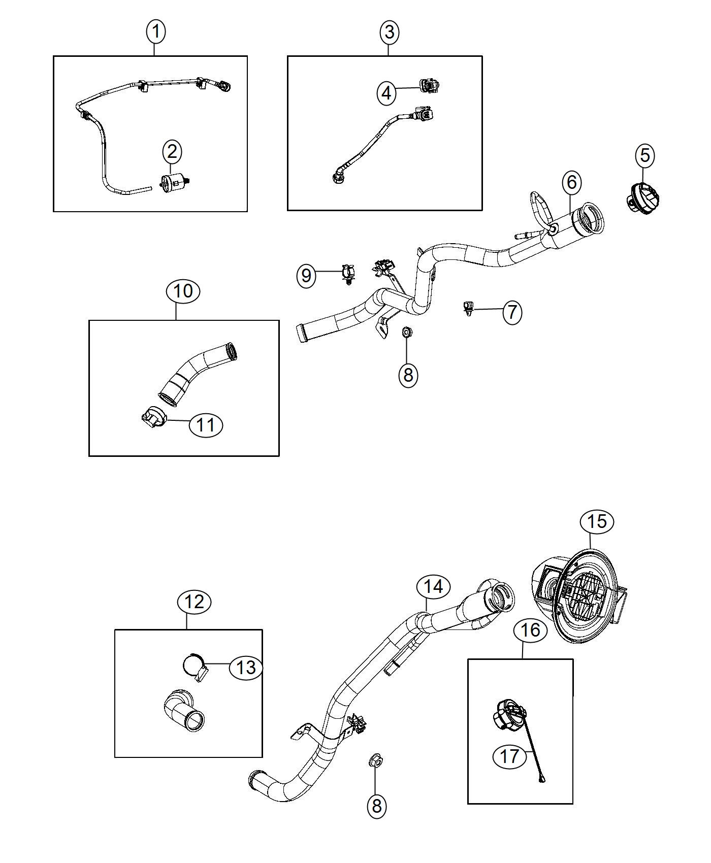 Jeep Cherokee Tube Fuel Filler Engine Air Vvt