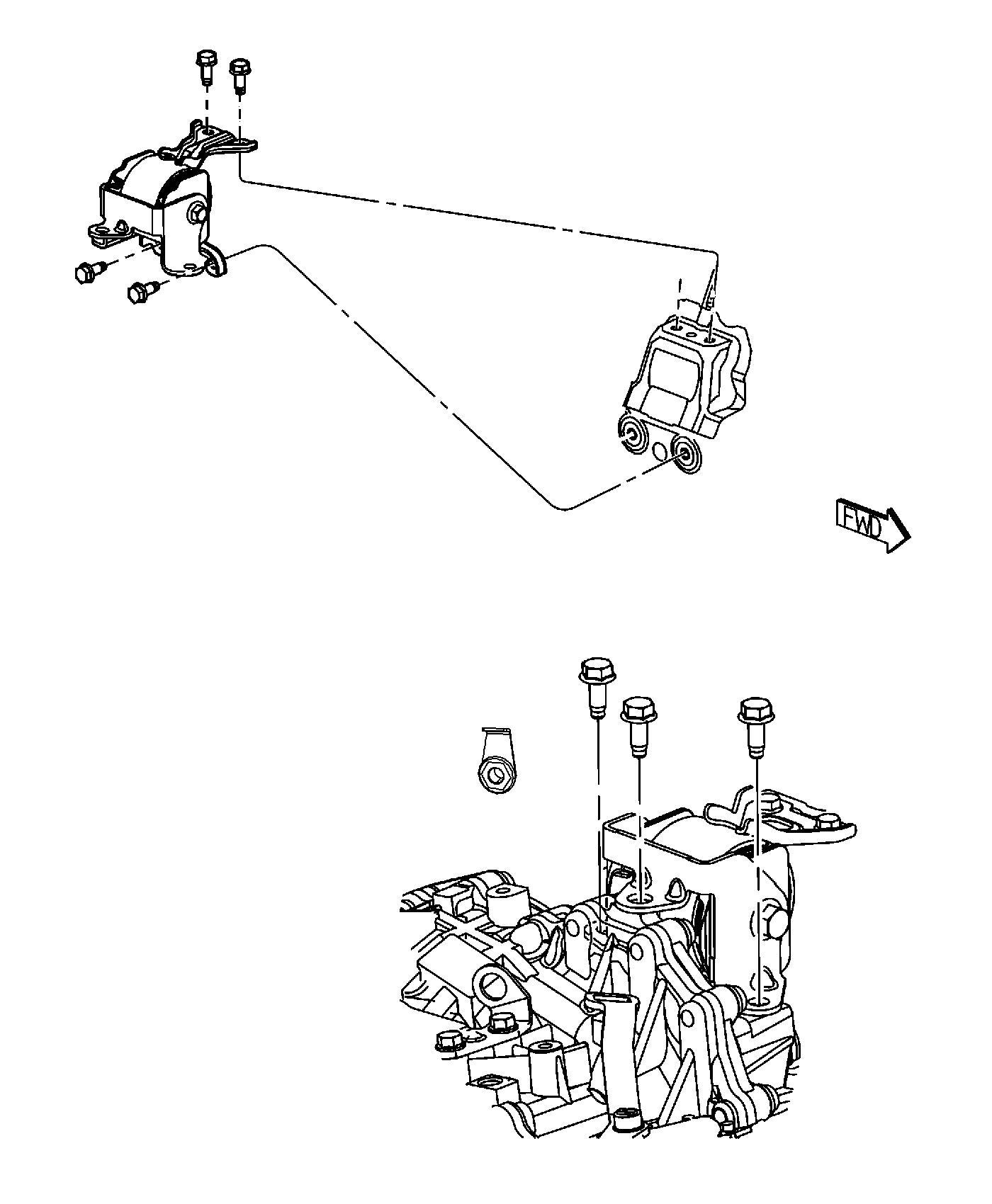 Jeep Compass Insulator Engine Mount Left Side 5 Speed