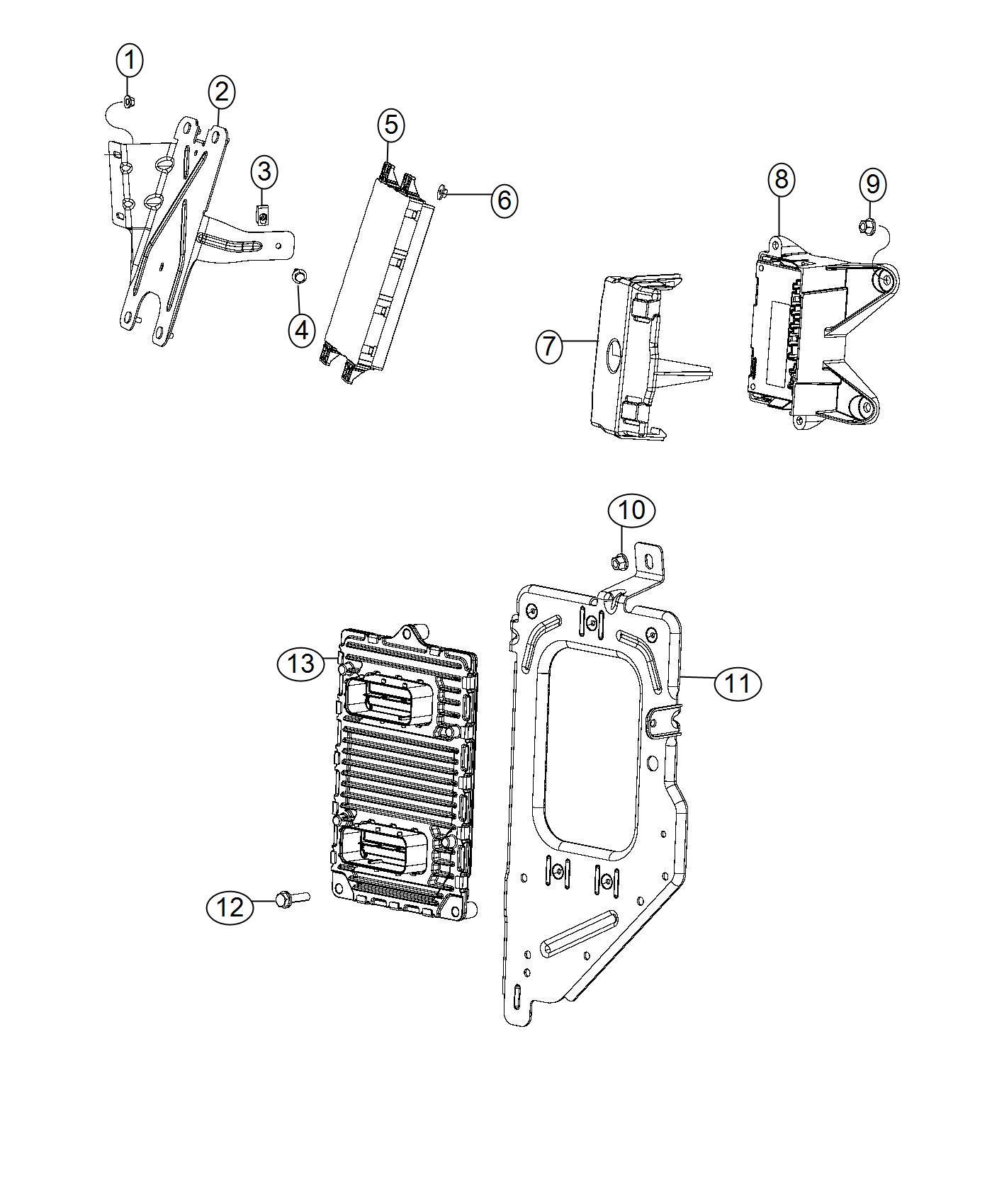 Dodge Ram Bracket Module Ecm Pcm Pcm Ecm