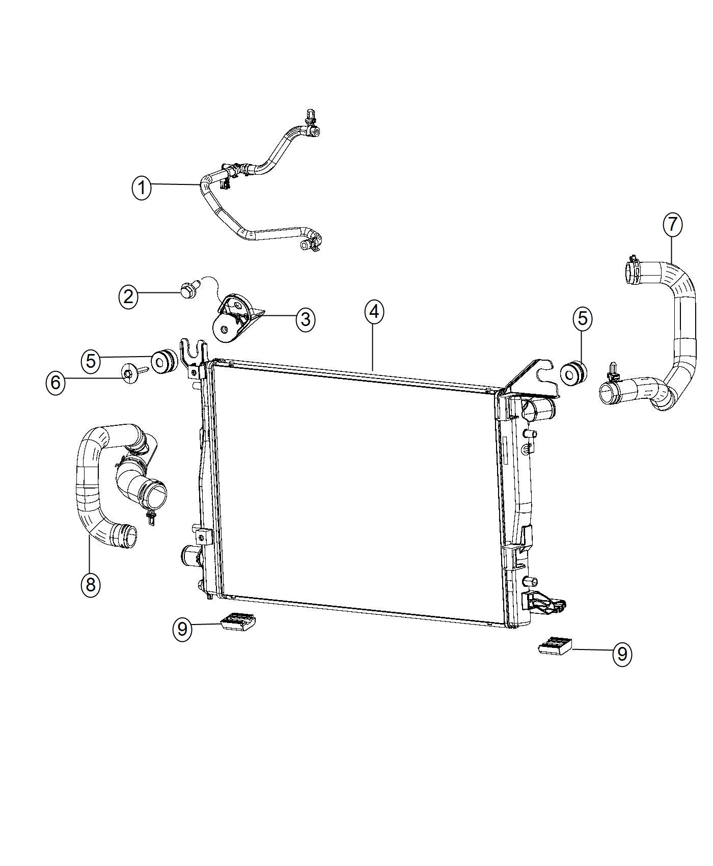 Dodge Ram Bracket Radiator Support Module