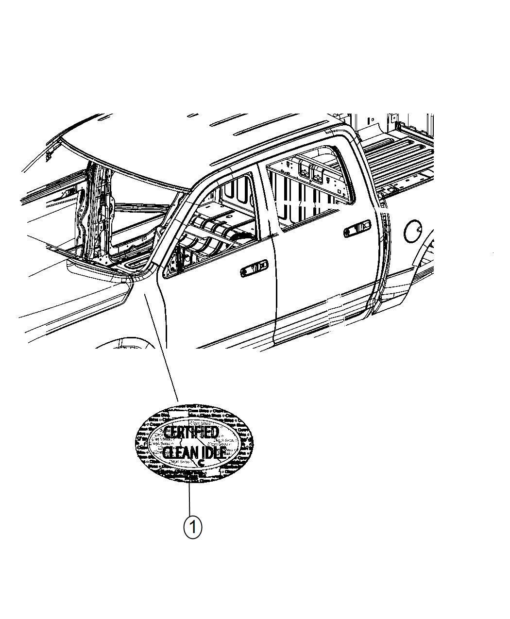Ram Label Clean Idle Emissions 3 7l V6 Gas