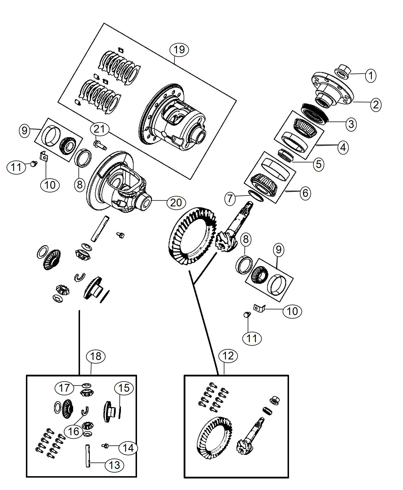 Ram Shim Drive Pinion Bearing Rear Axle Differential