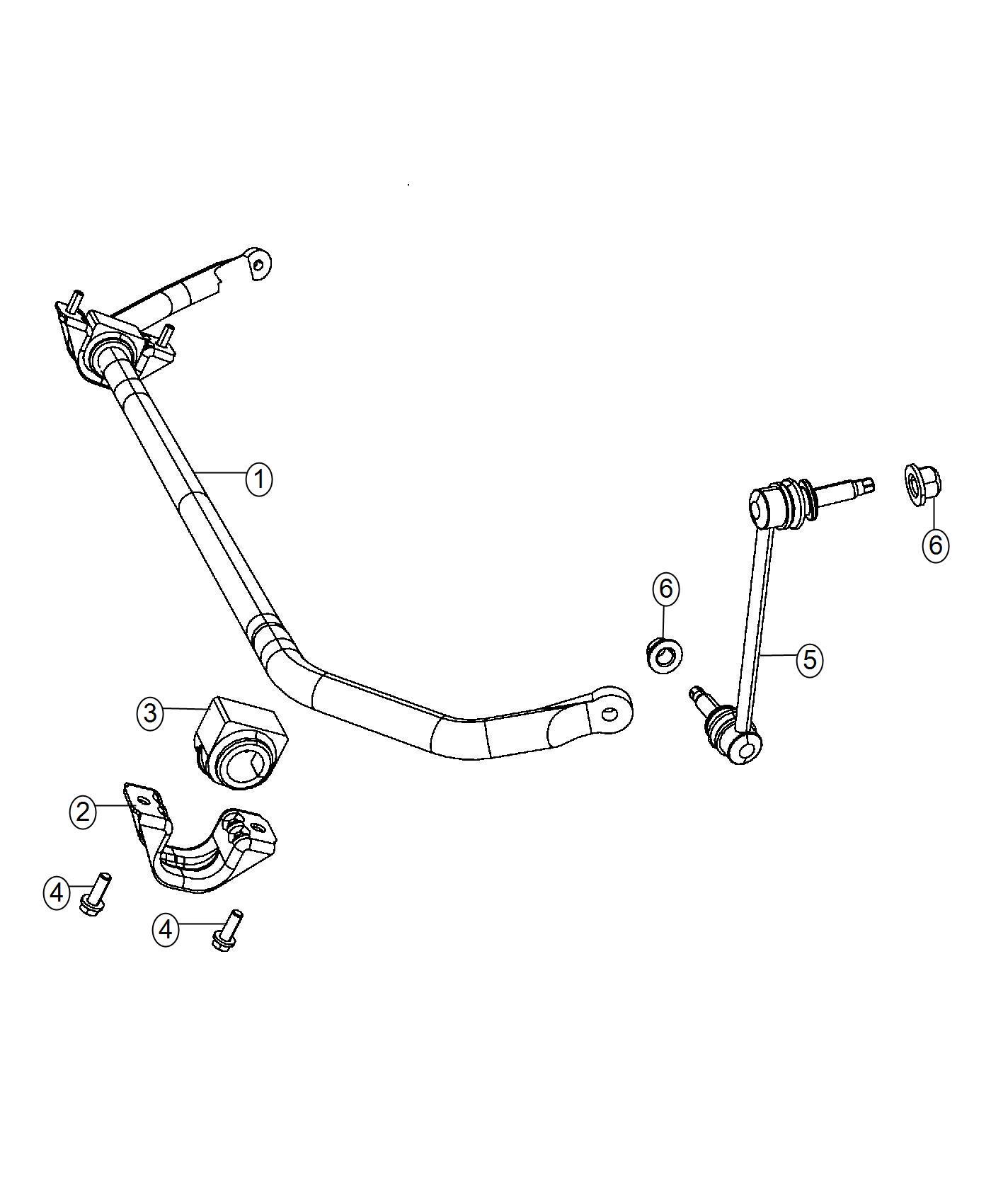 Dodge Charger Stabilizer Bar Front Suspension Module
