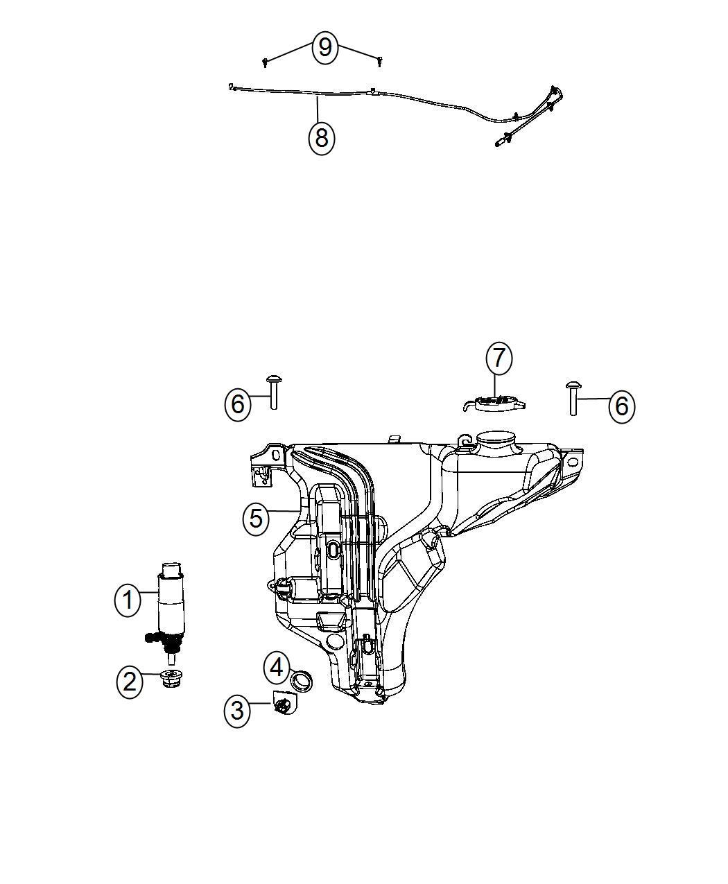 Dodge Charger Reservoir Windshield Washer Leak