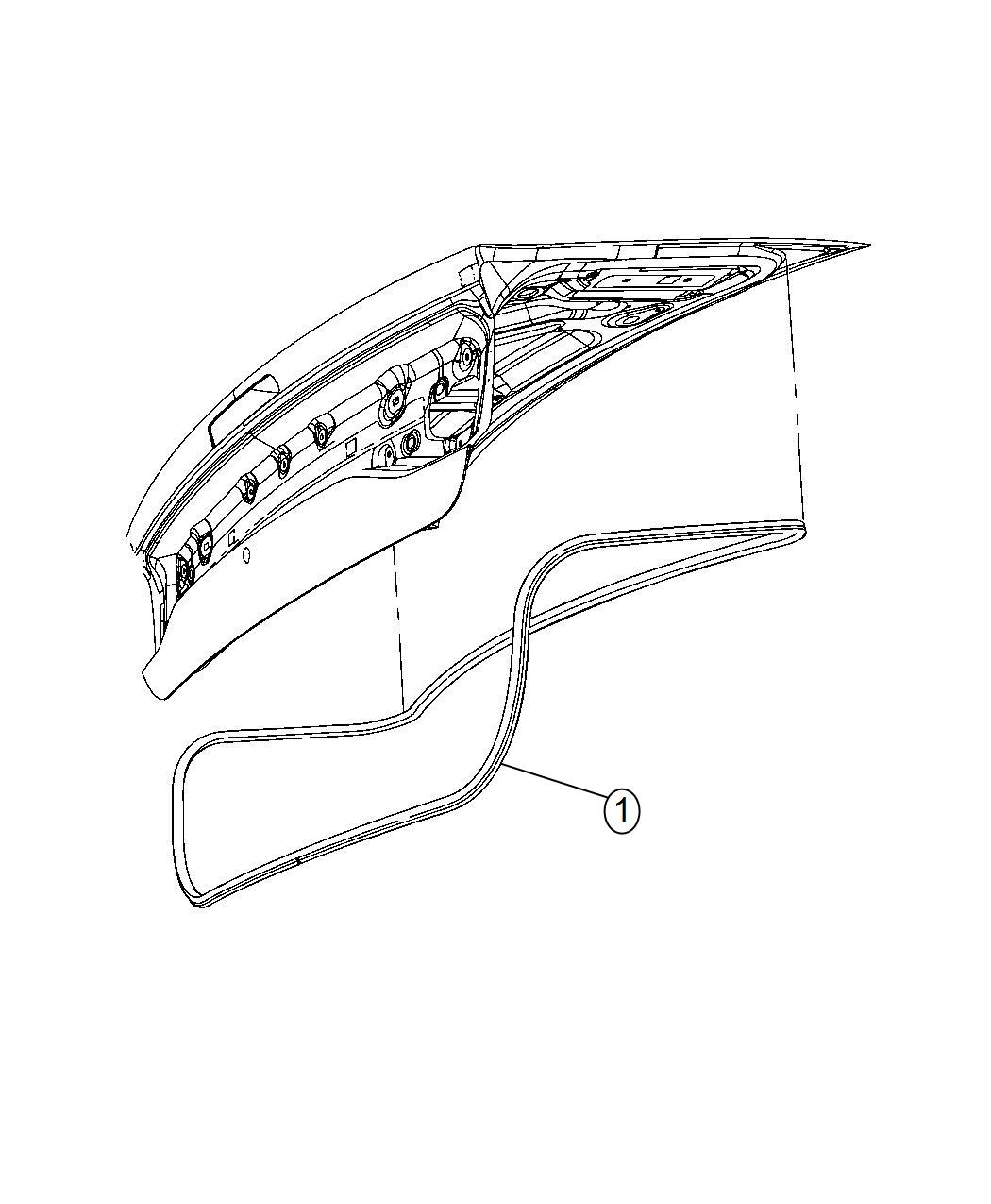 Dodge Charger Weatherstrip Decklid Body