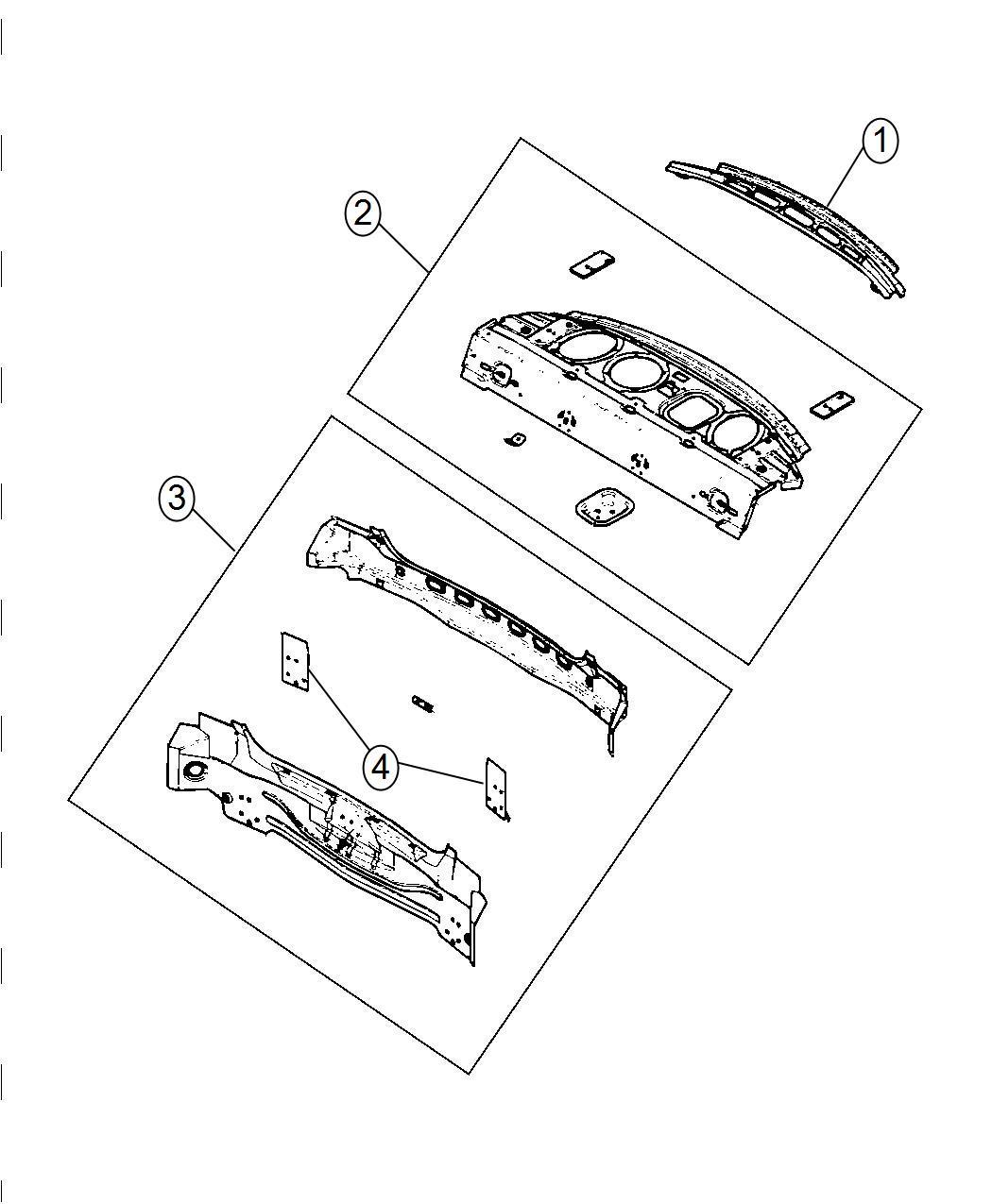 Dodge Charger Panel Rear Shelf Mopar Body