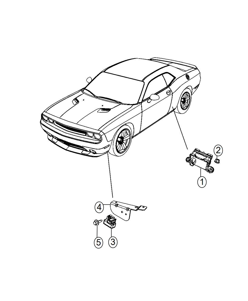 Chrysler 300 Sensor Dynamics Lateral Acceleration