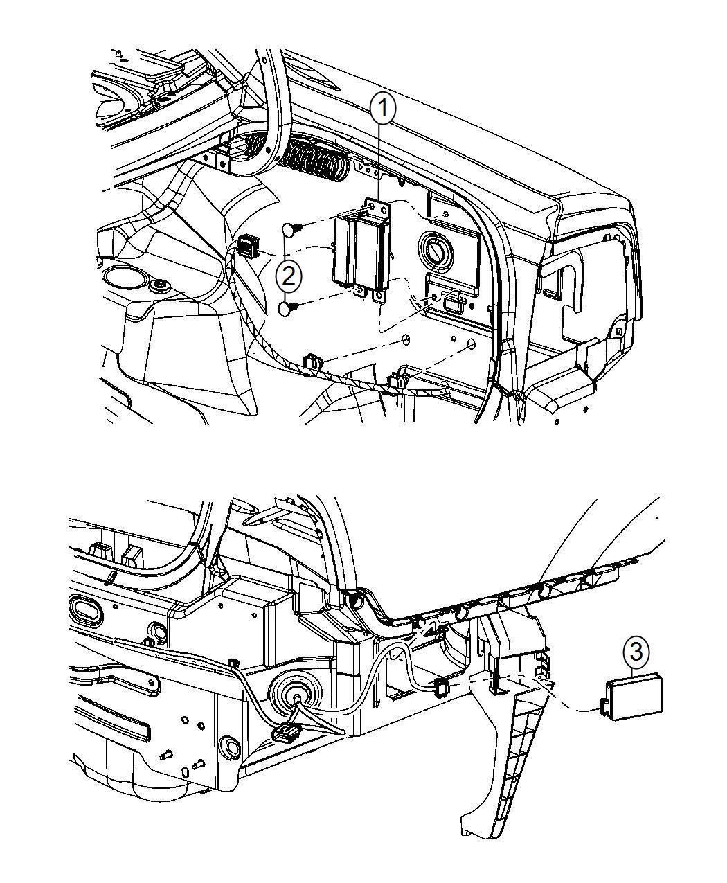 Chrysler 300 Module Blind Spot Detection Path