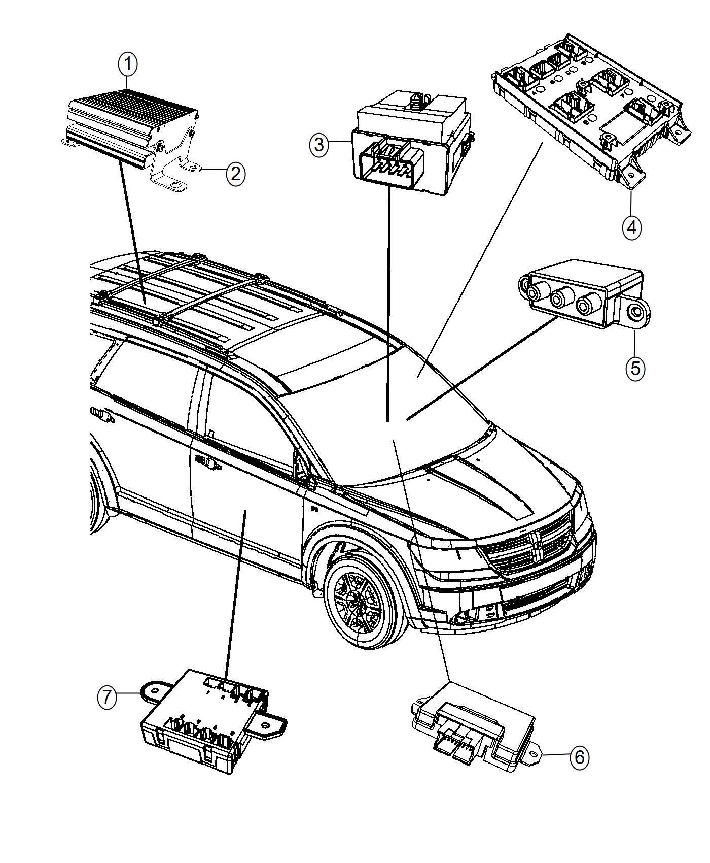 Dodge Journey Module Drive Train Control Modules Engine Body