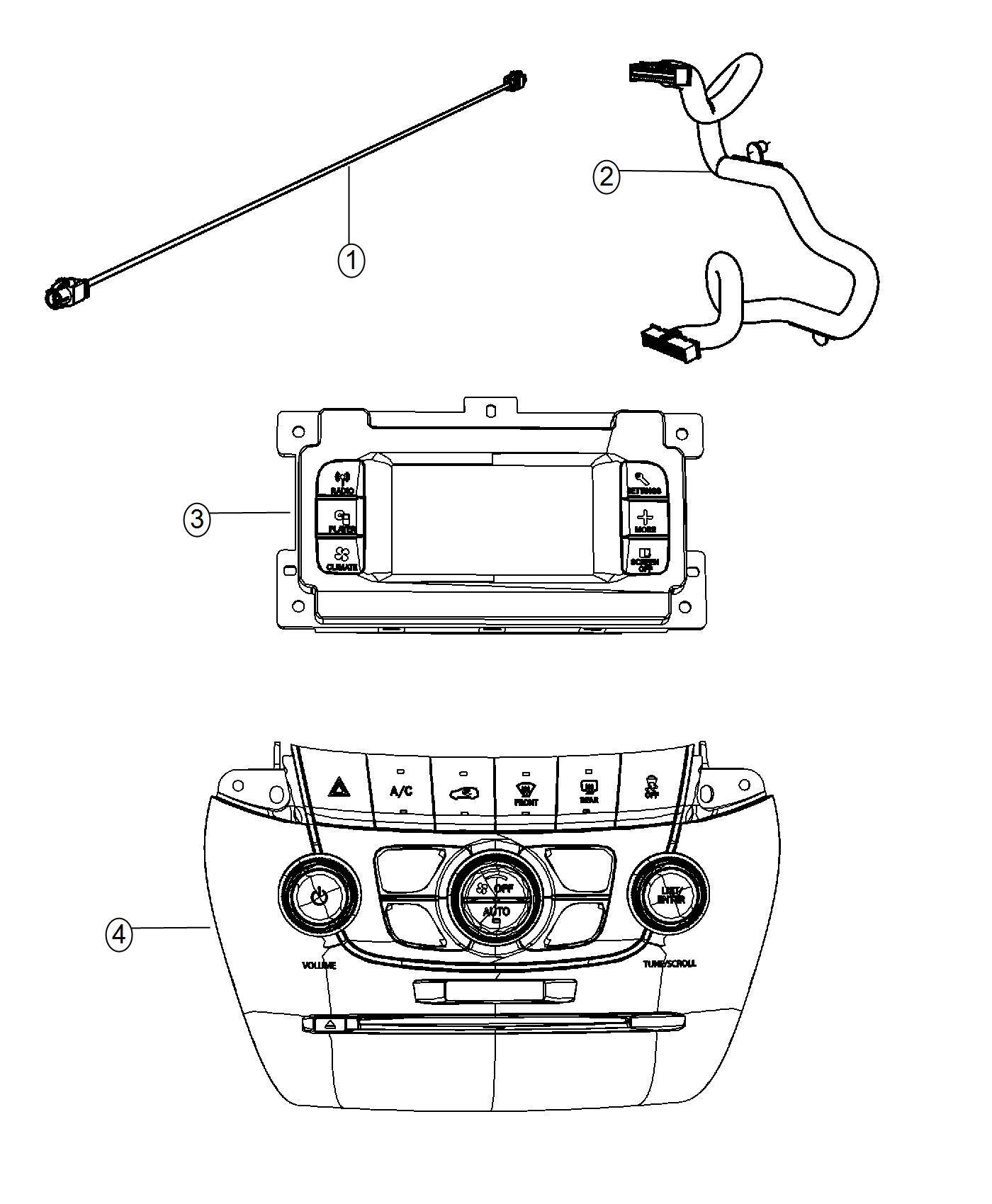 Dodge Journey Cable Jumper 40 Way Instrument Module Panel