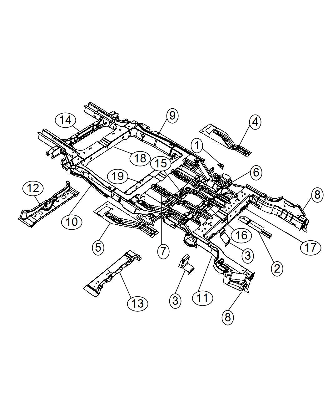 Chrysler Town Amp Country Rail Rear Floor Pan Side