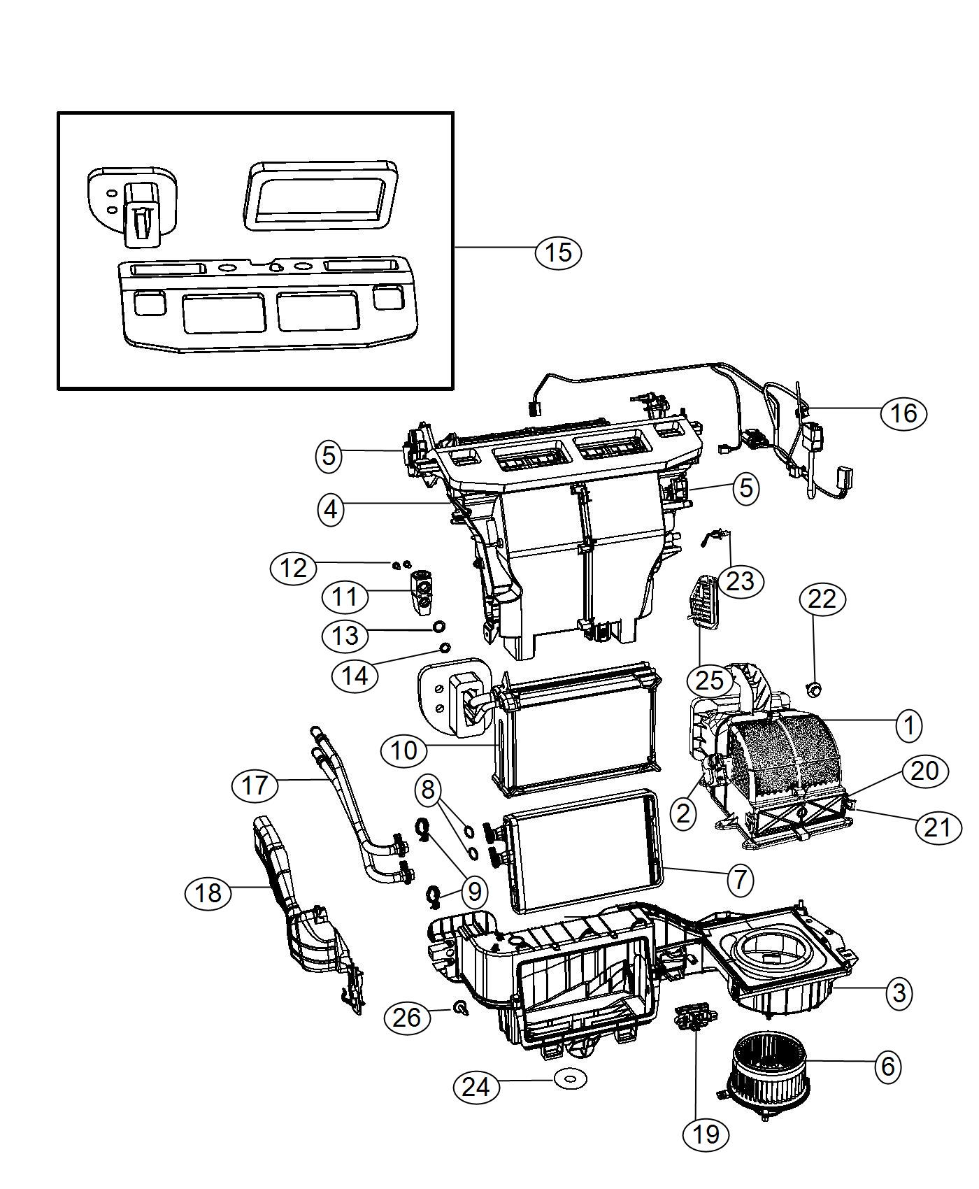Dodge Grand Caravan Core Heater Temp Zone Panel