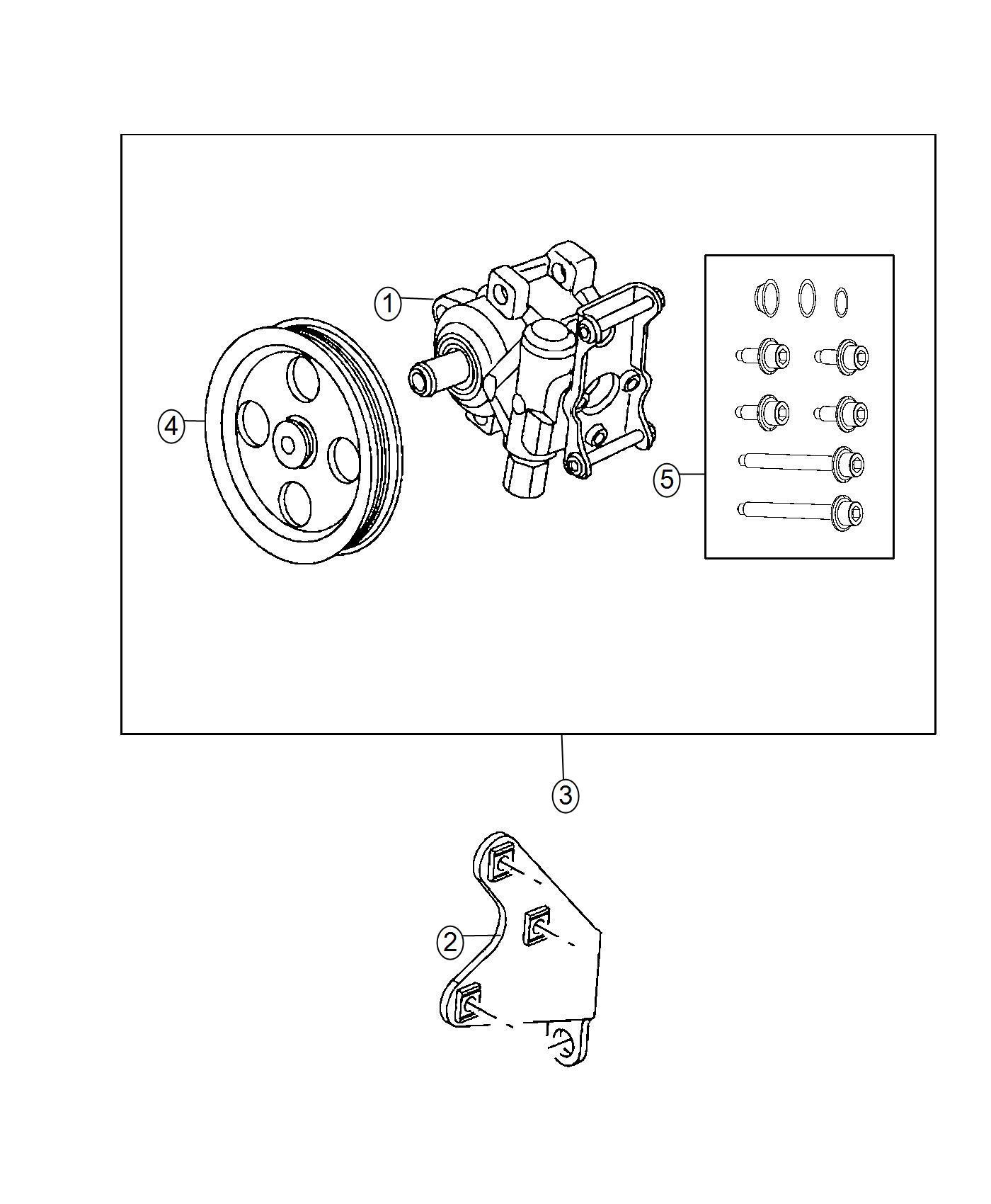 Dodge Ram Bracket Power Steering Pump 5 7l V8