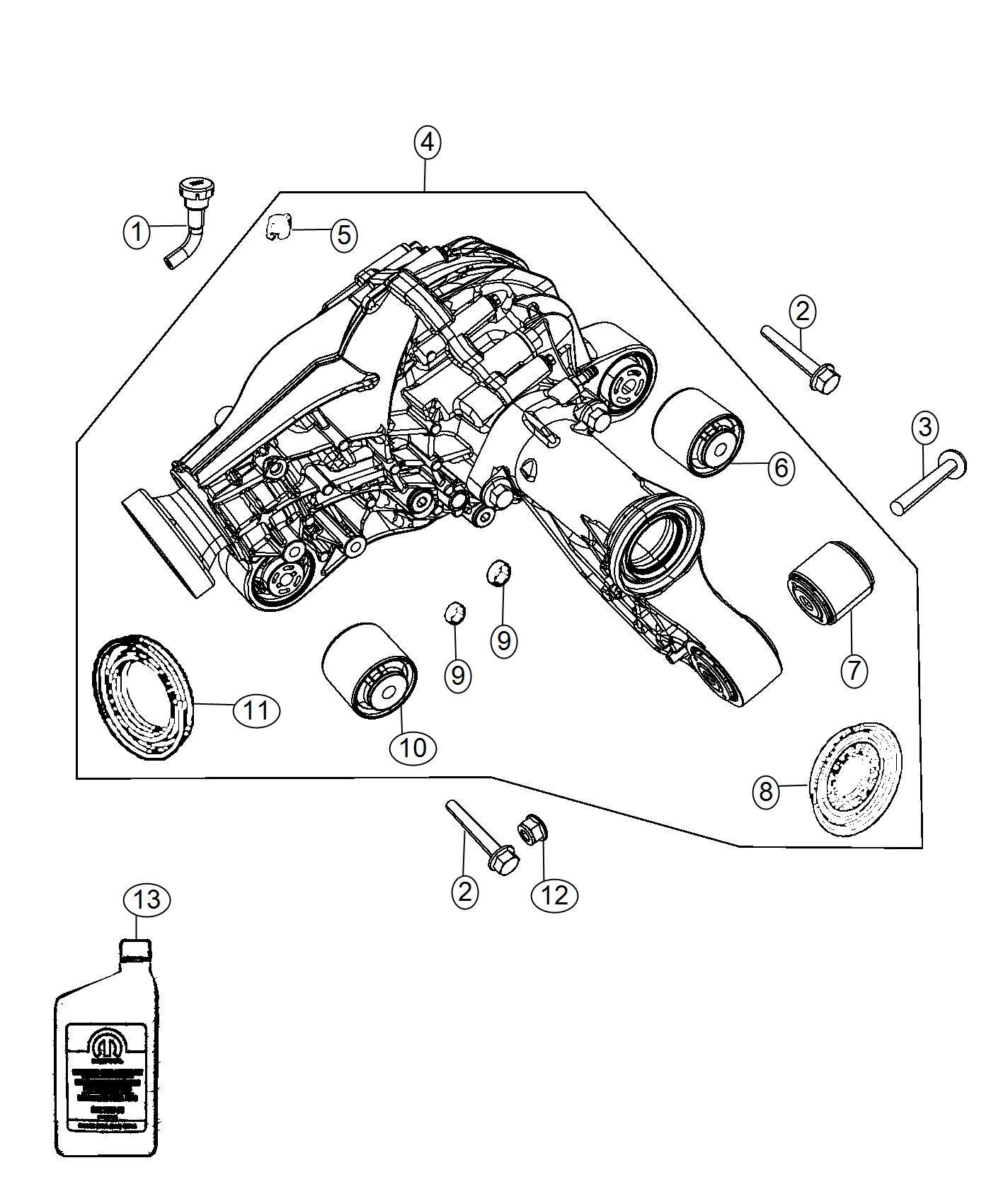 Jeep Grand Cherokee Isolator Axle Mounting Front