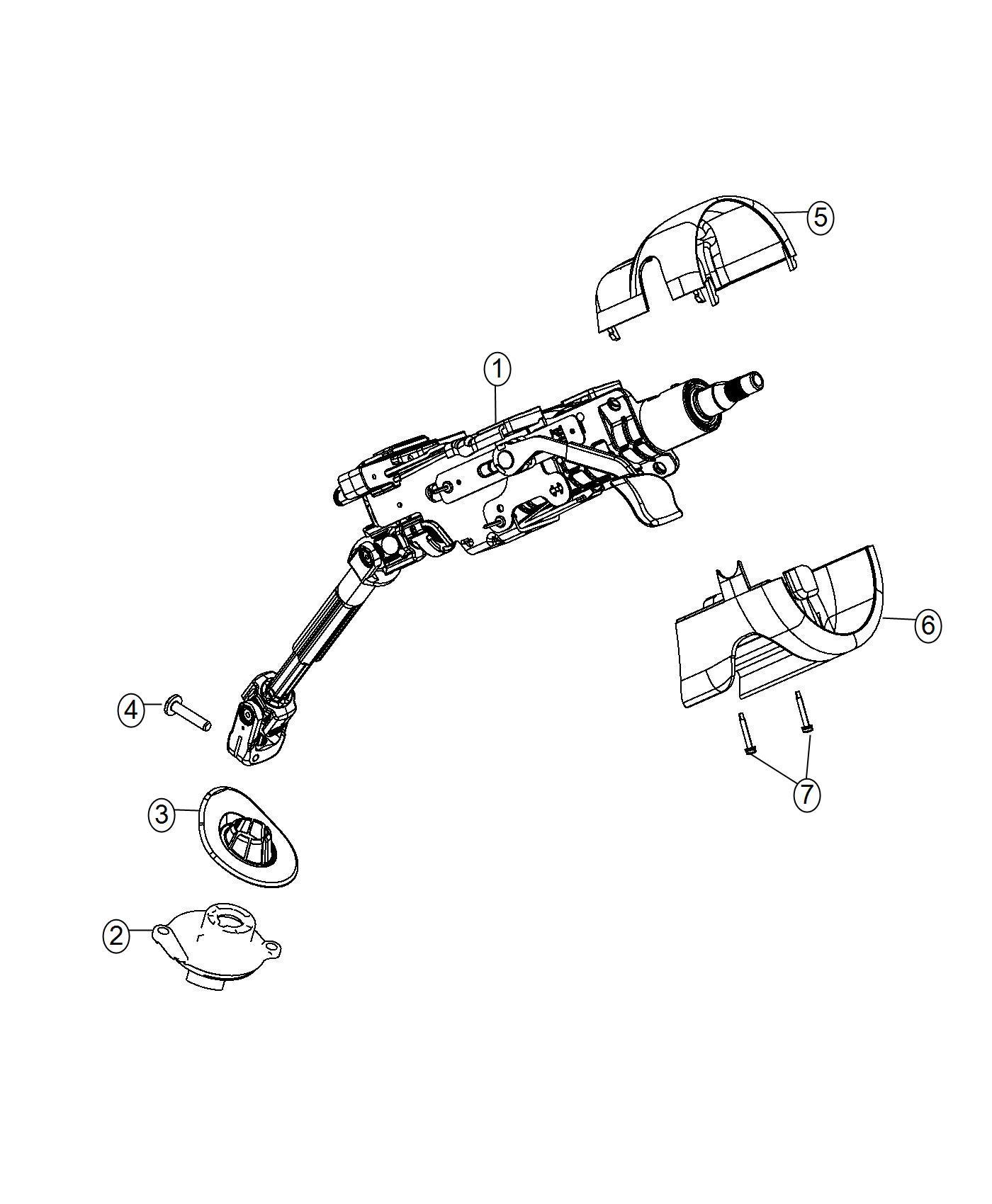 Jeep Cherokee Shroud Steering Column Black Iceland