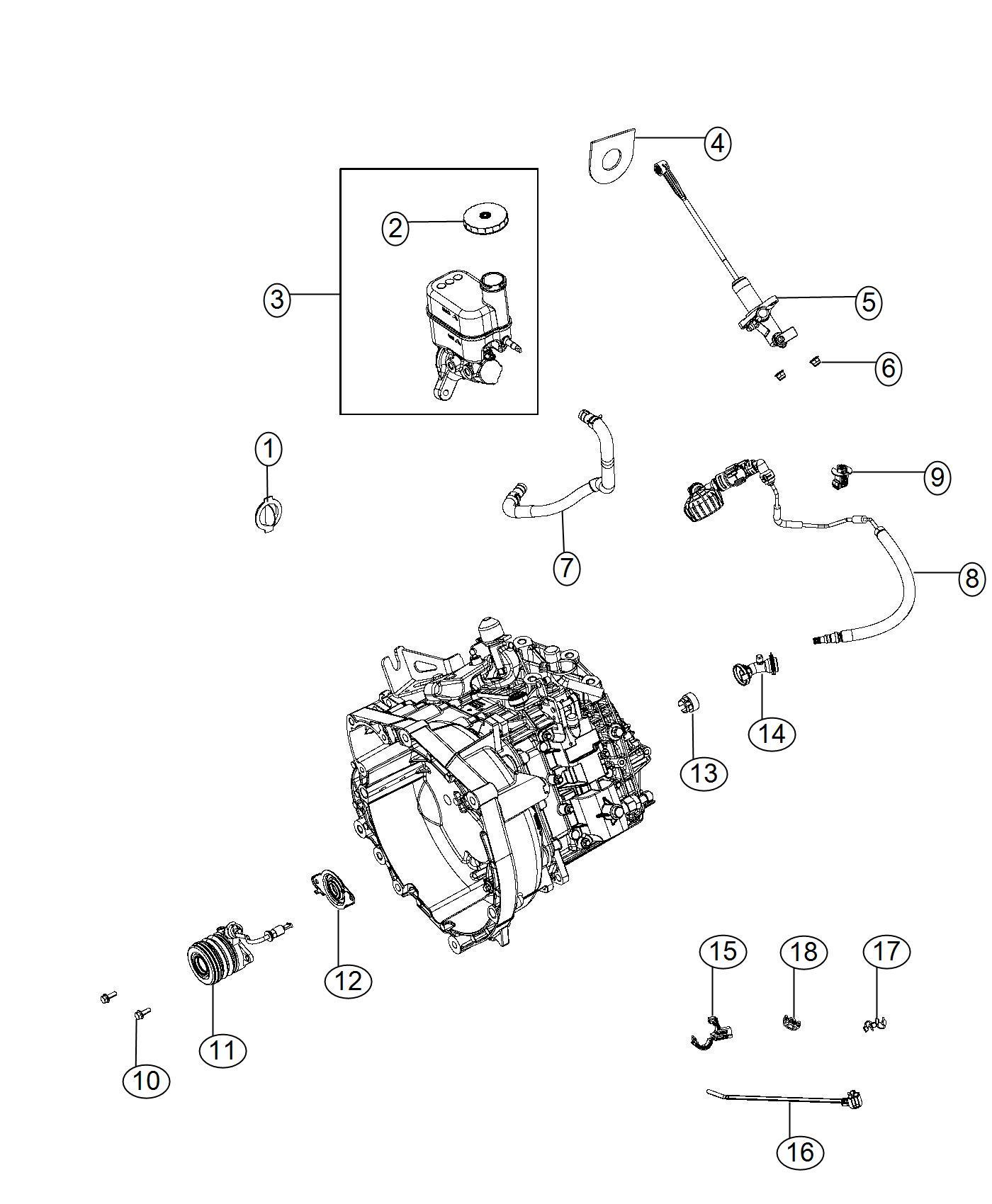 Chrysler 200 Master Cylinder Brake Wheel Lock Disc
