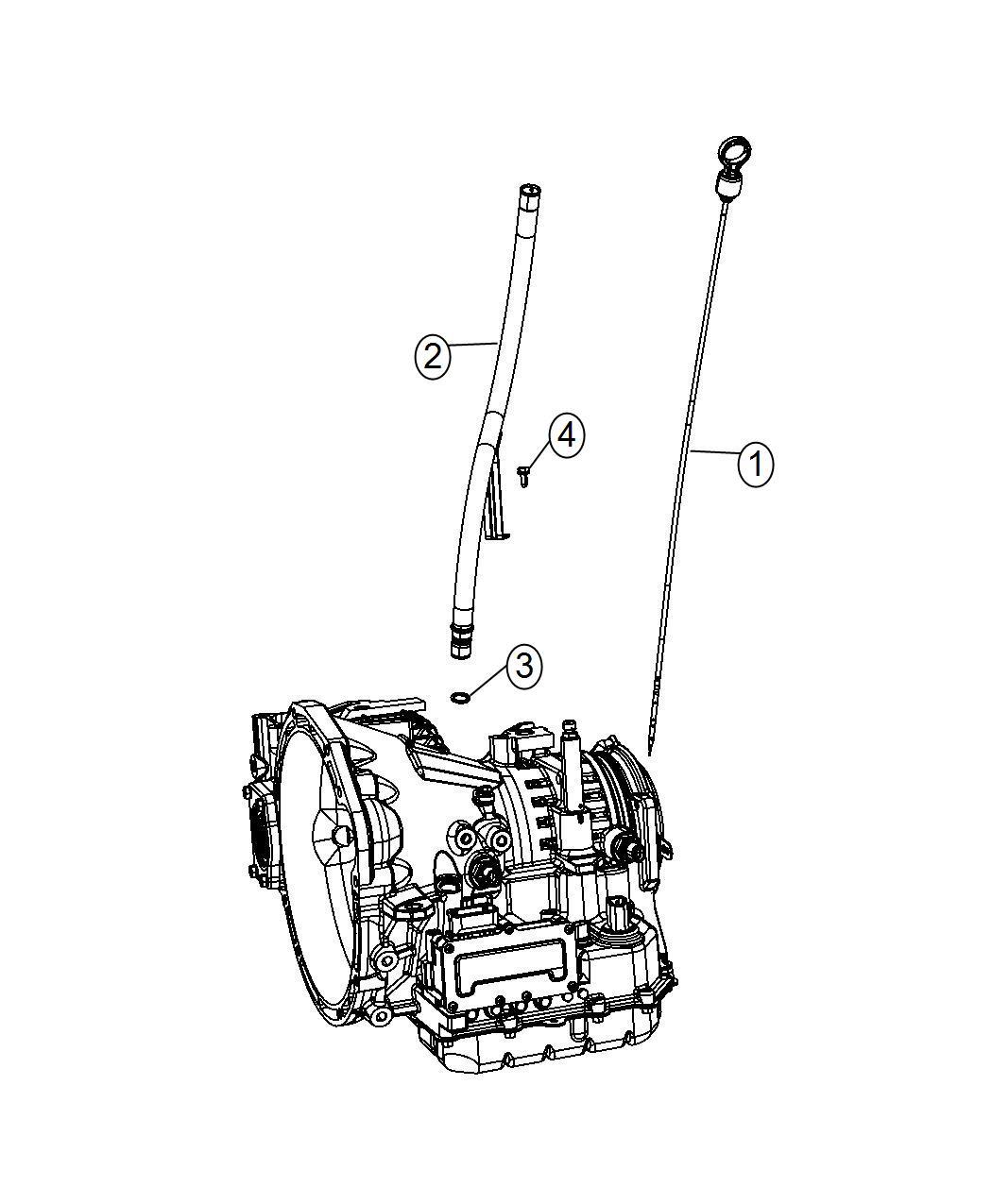 Dodge Journey Indicator Transmission Fluid Level Oil Tube
