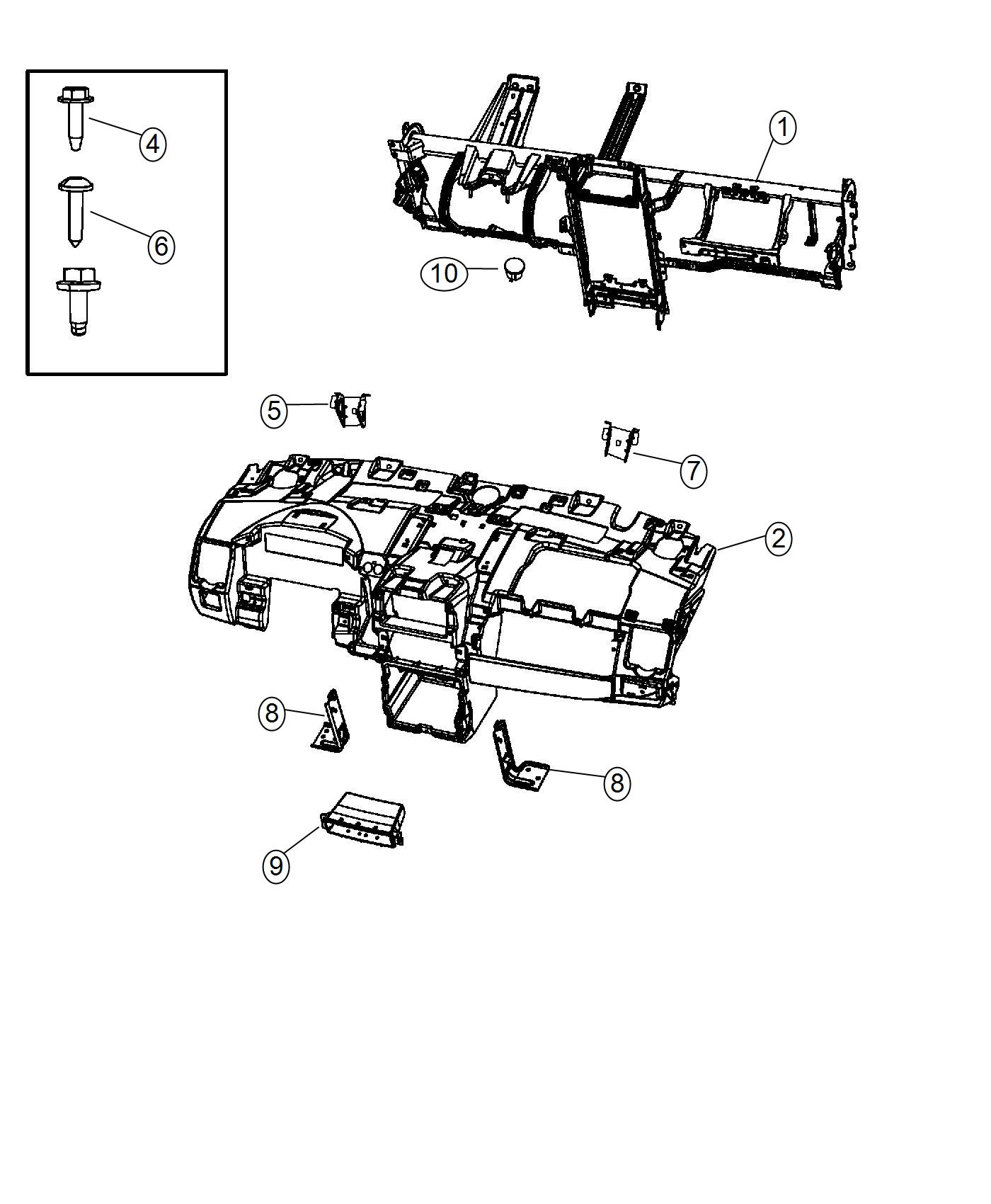 Chrysler Town Amp Country Bracket Instrument Panel