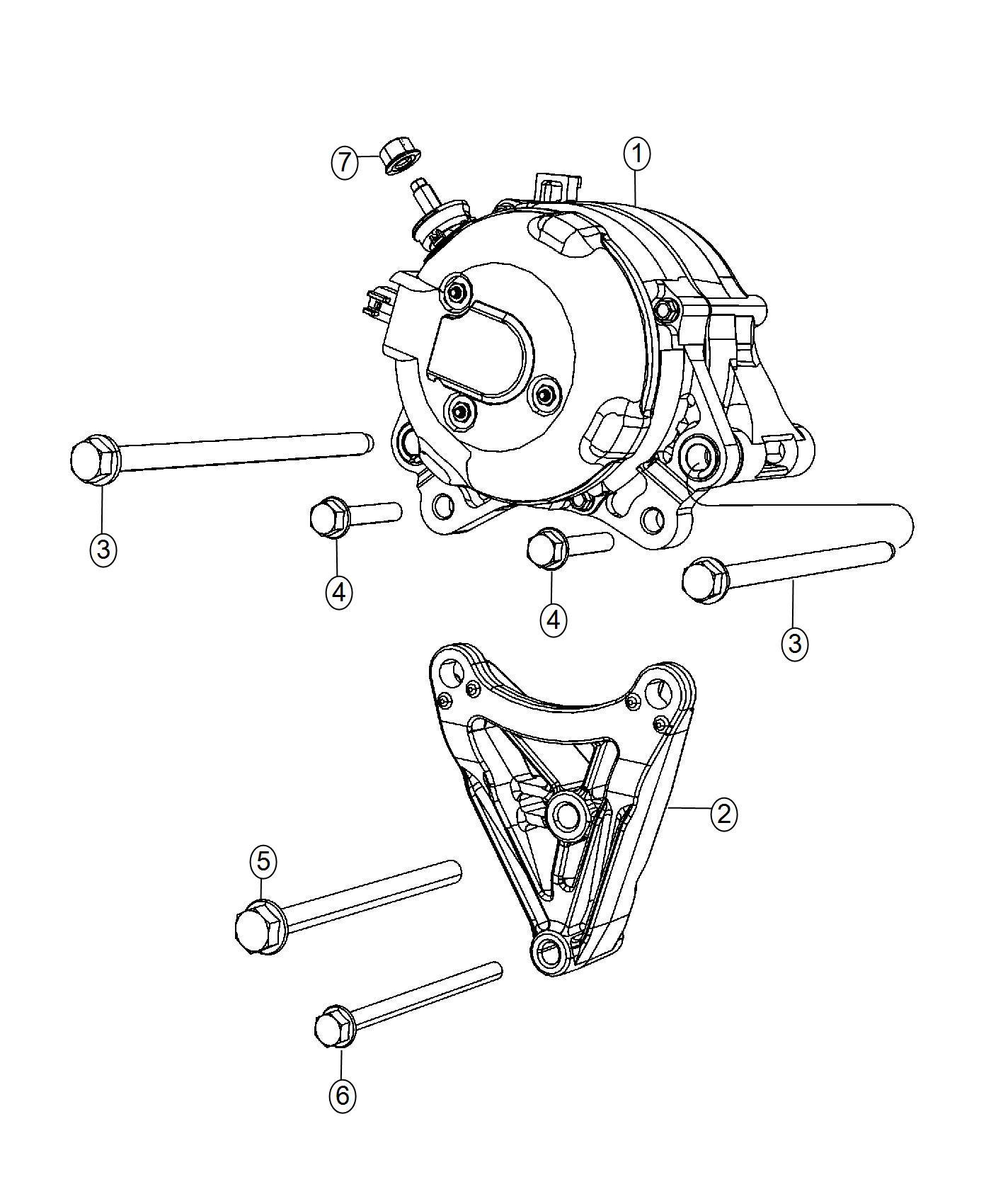 Jeep Wrangler Bracket Alternator Complete Chassis